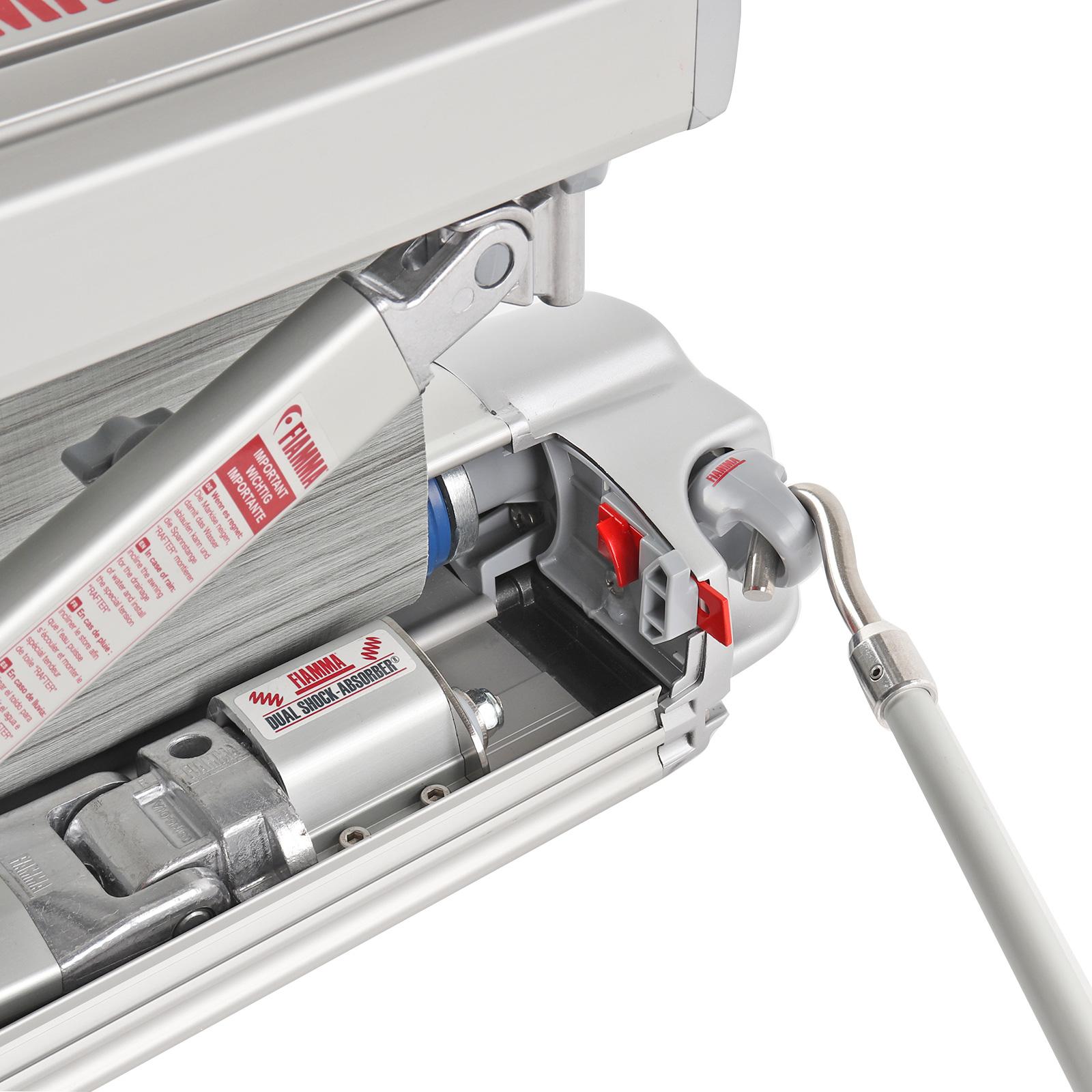 elegant im Stil Neue Produkte heiß-verkauf echt Details zu Fiamma F45 S Markise Titanium 260cm, Tuch royal grey + Sikaflex  221 + Tiedown