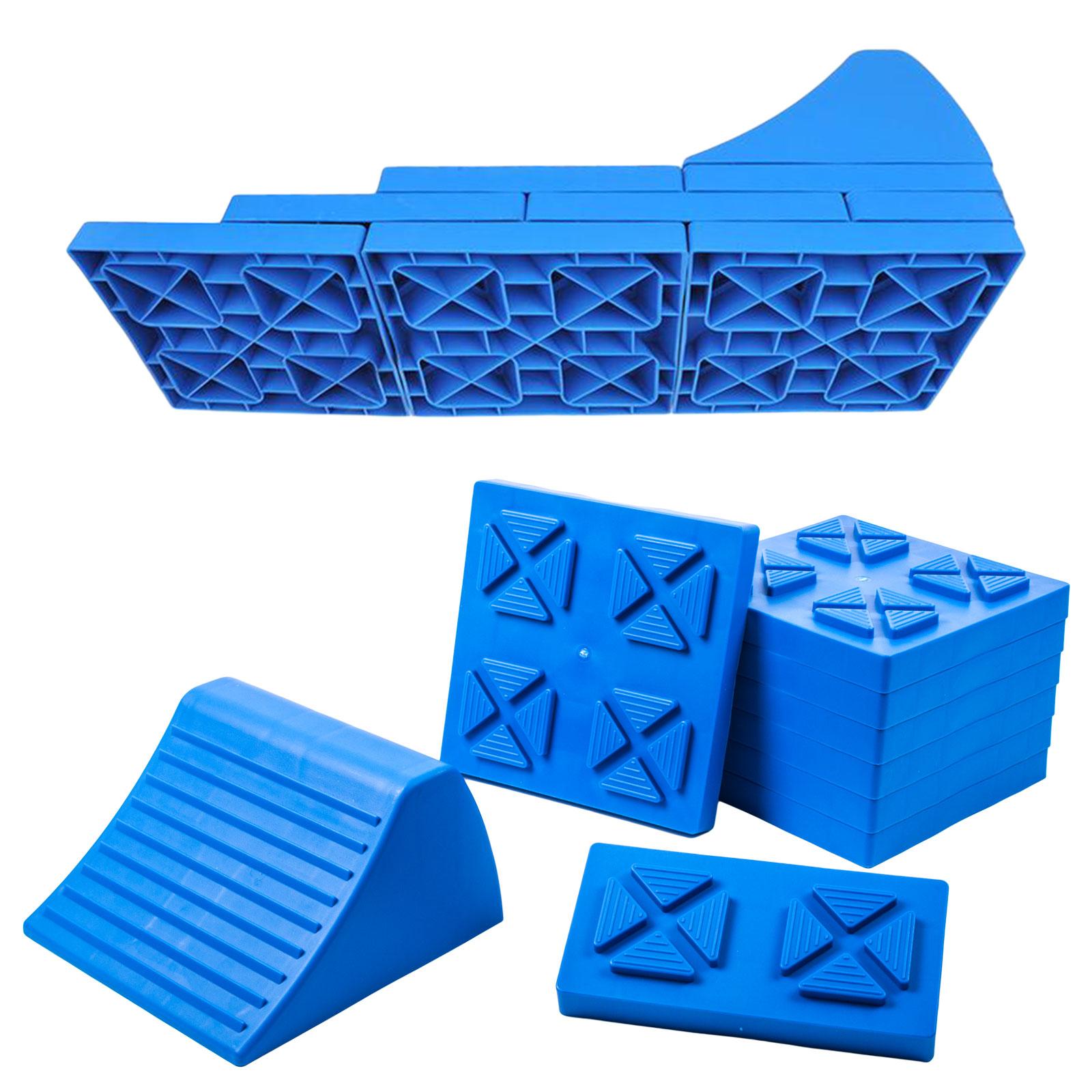 ProPlus Multifunktions Auffahrkeil/Unterlegplatten, Achslast 5t, blau