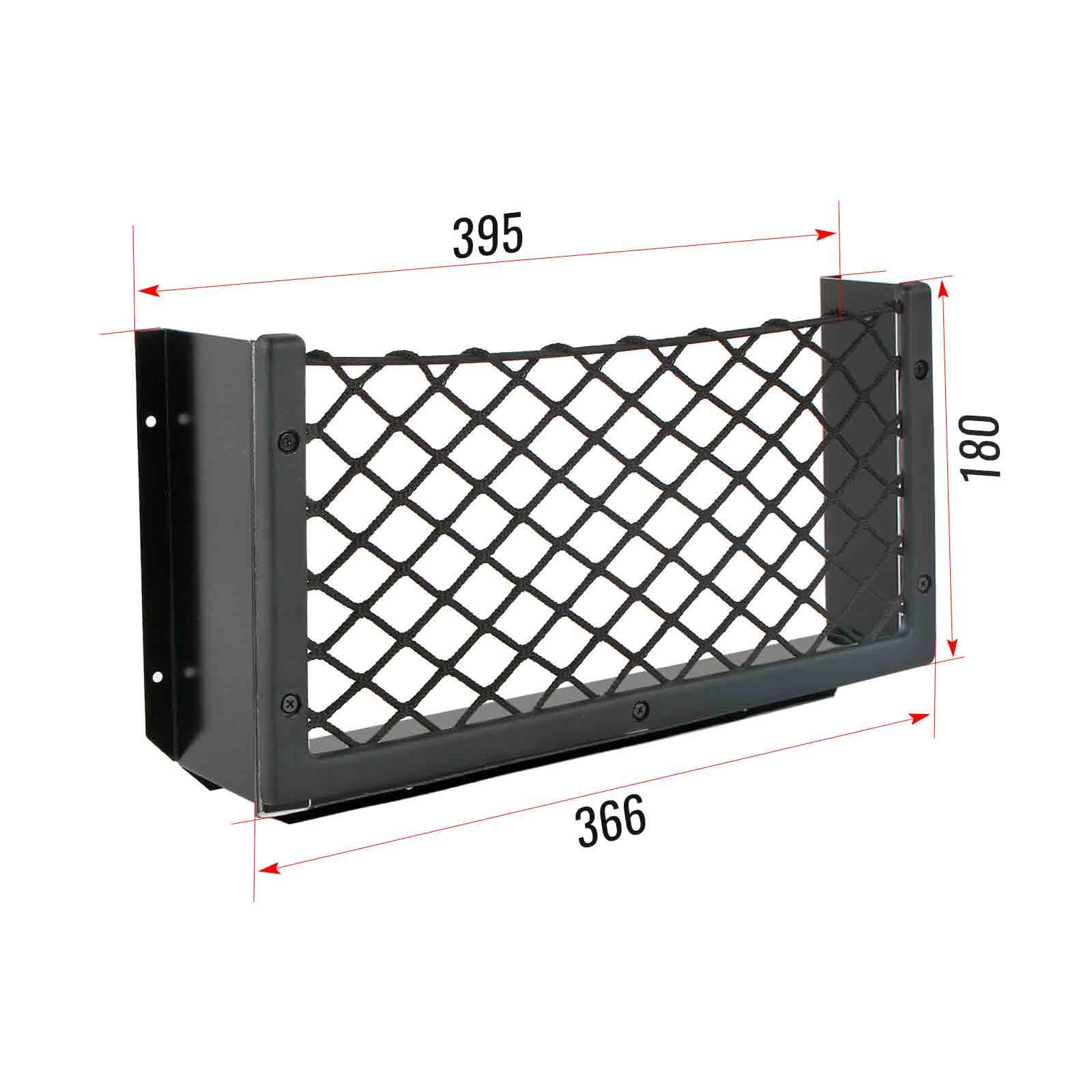 Netzablagefach M 366 x 180 mm x 80 mm + Abstandshalter