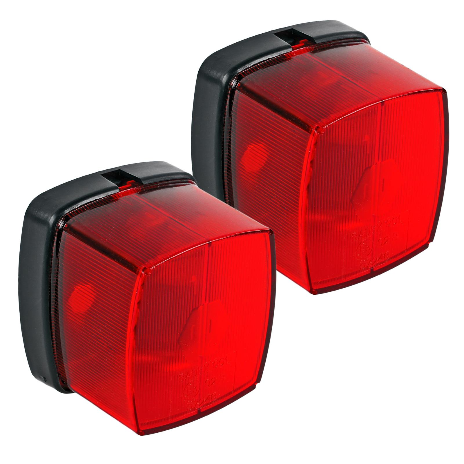 2x Positionsleuchte Rot E Prüfzeichen inkl Befestigungsmaterial