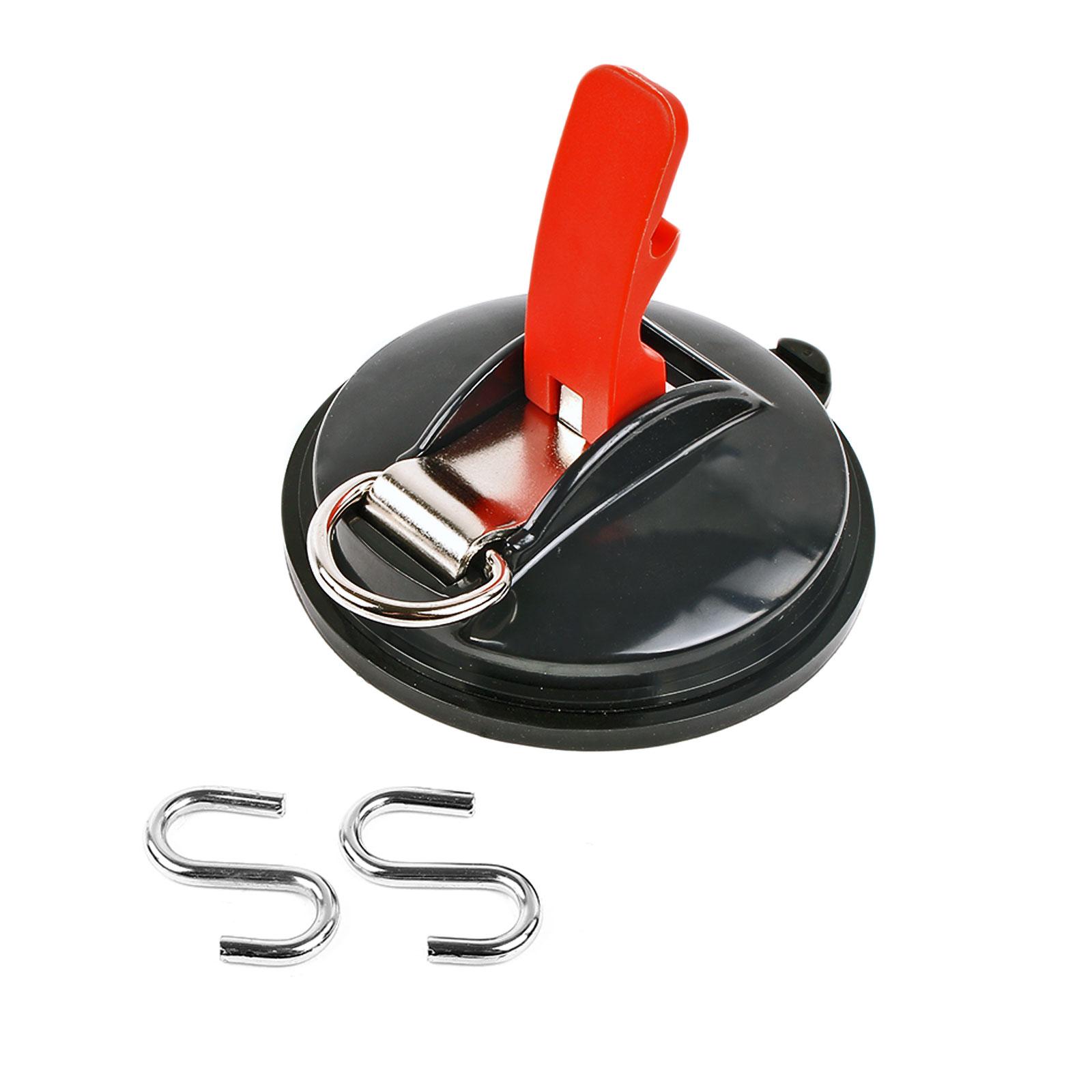 Saugnapf Befestigung mit Ring & 2 S-Haken 10 Kg Tragkraft Klappsauger