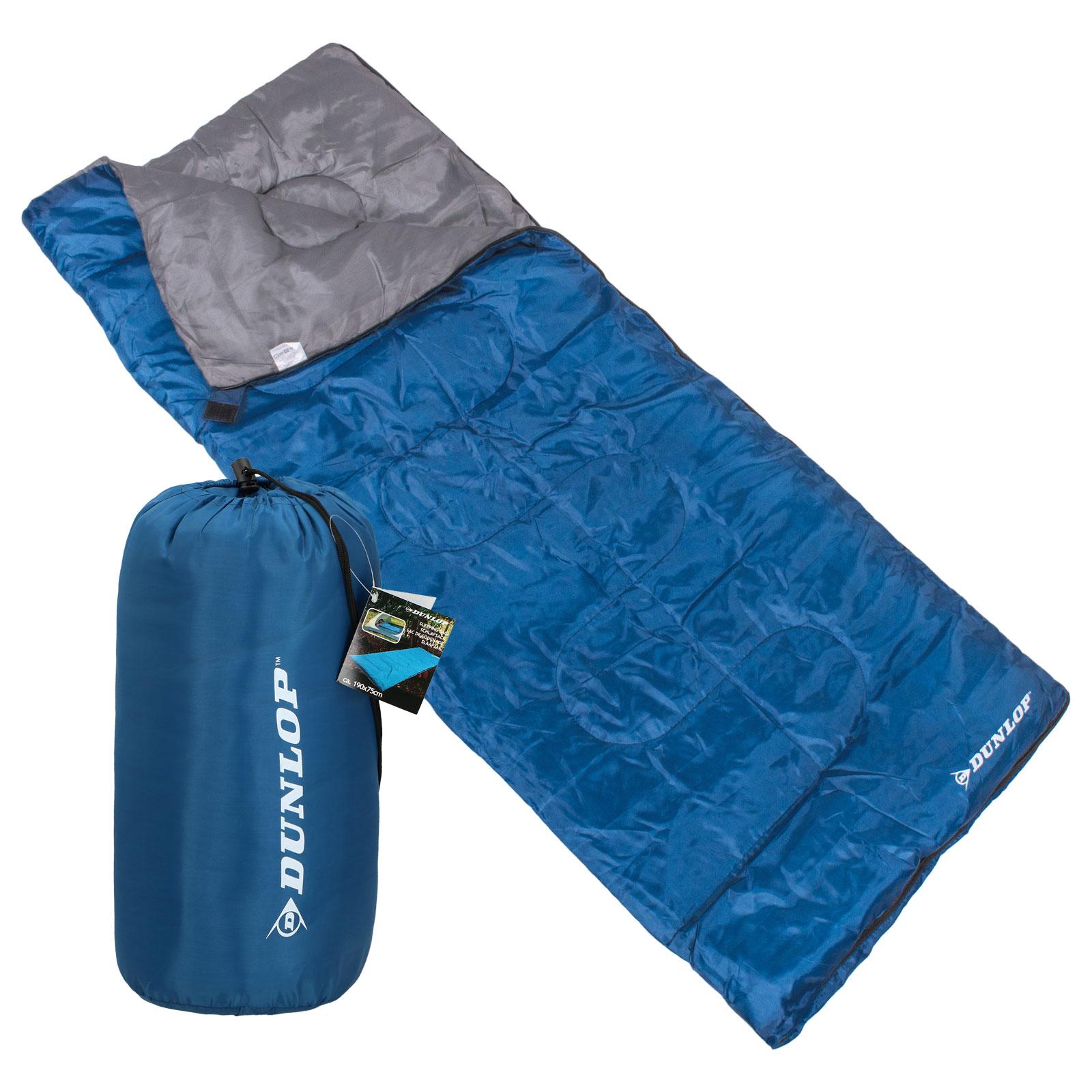 Dunlop Deckenschlafsack ultraleicht 190 x 75 cm blau +8 °C