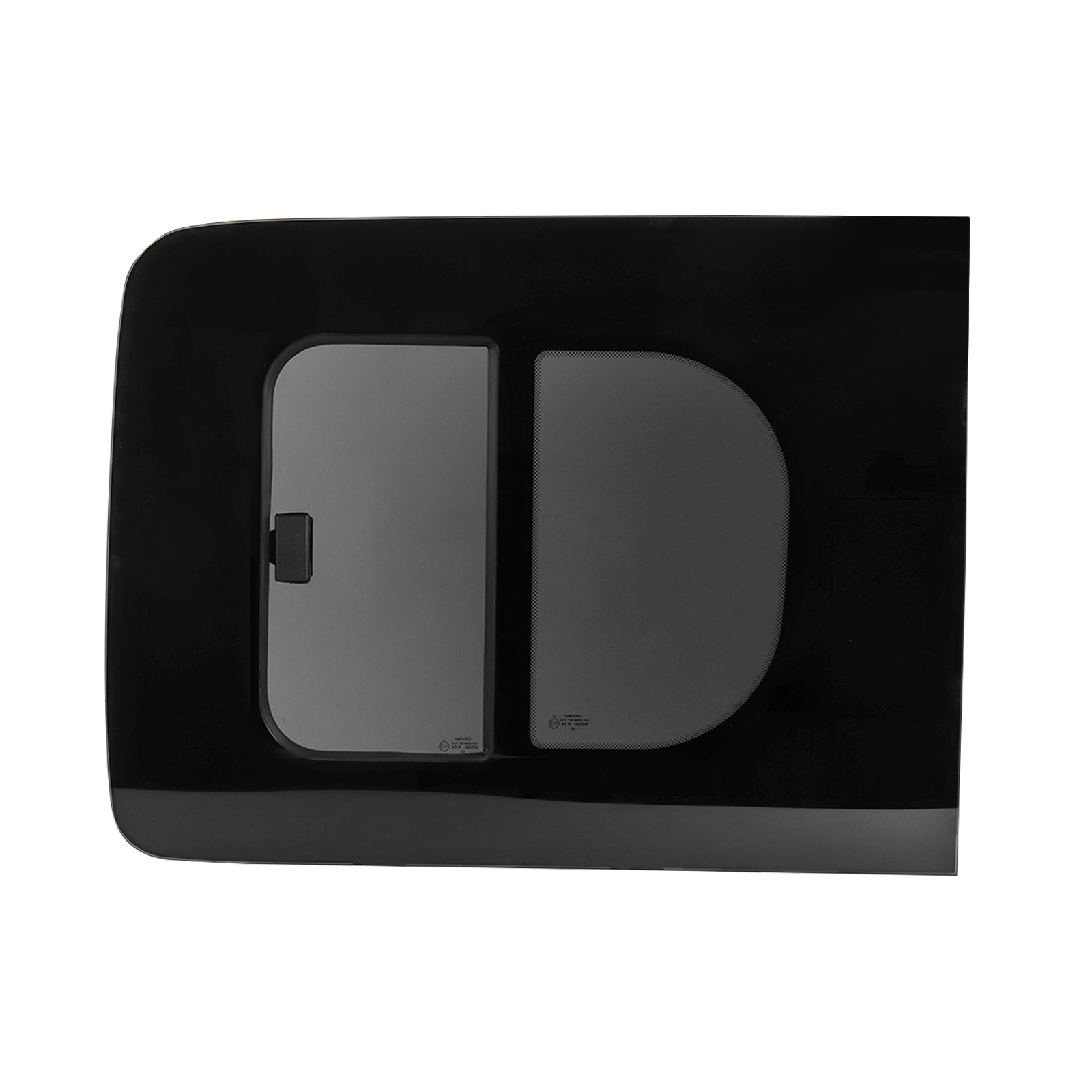 Schiebefenster Glasfenster für Caddy ab Bj. 08 links, Echtglas, ca 70,4x54,5 cm