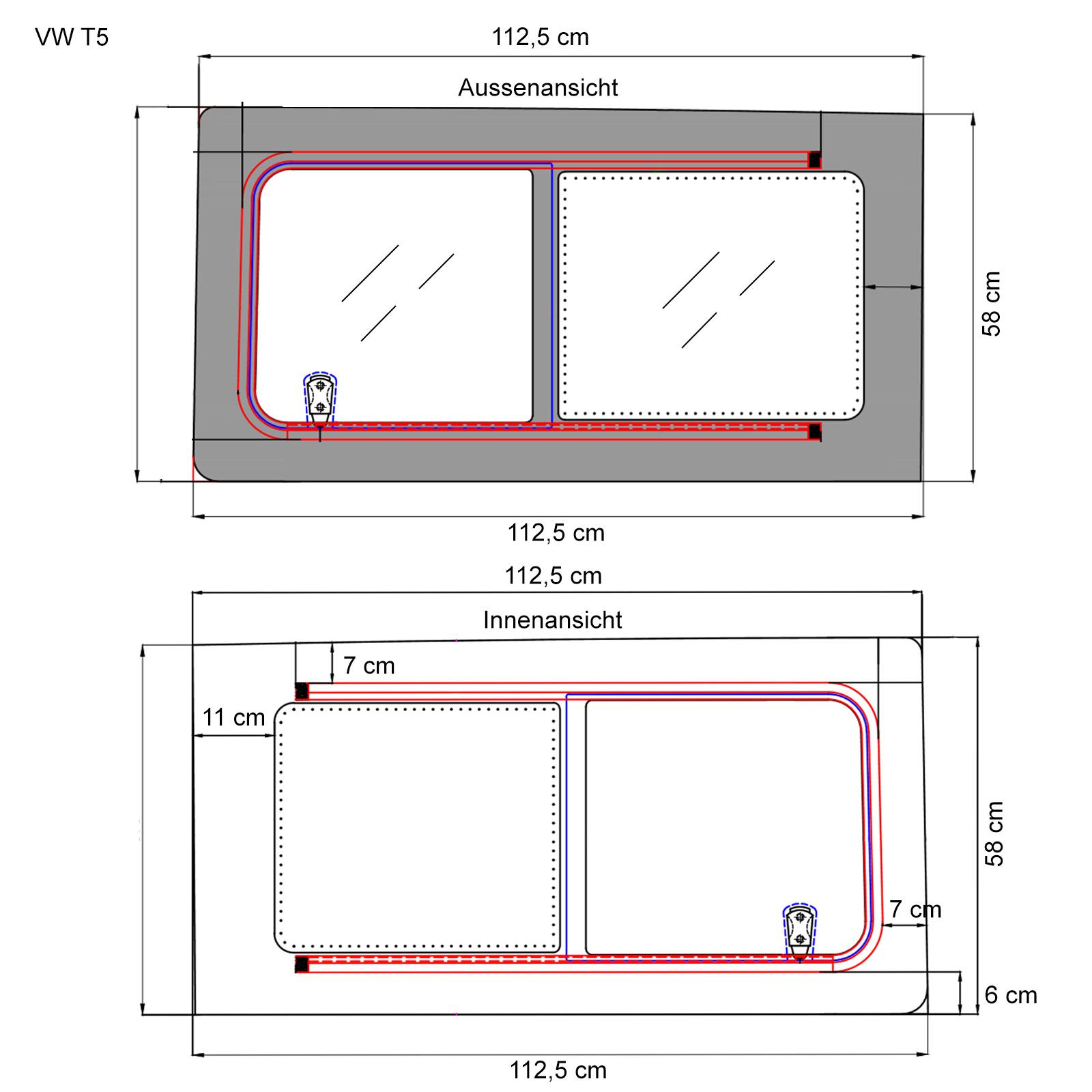 Schiebefenster-Seitenfenster-getoent-rechts-fuer-VW-T5-T6-Echtglas-113x58-cm Indexbild 5