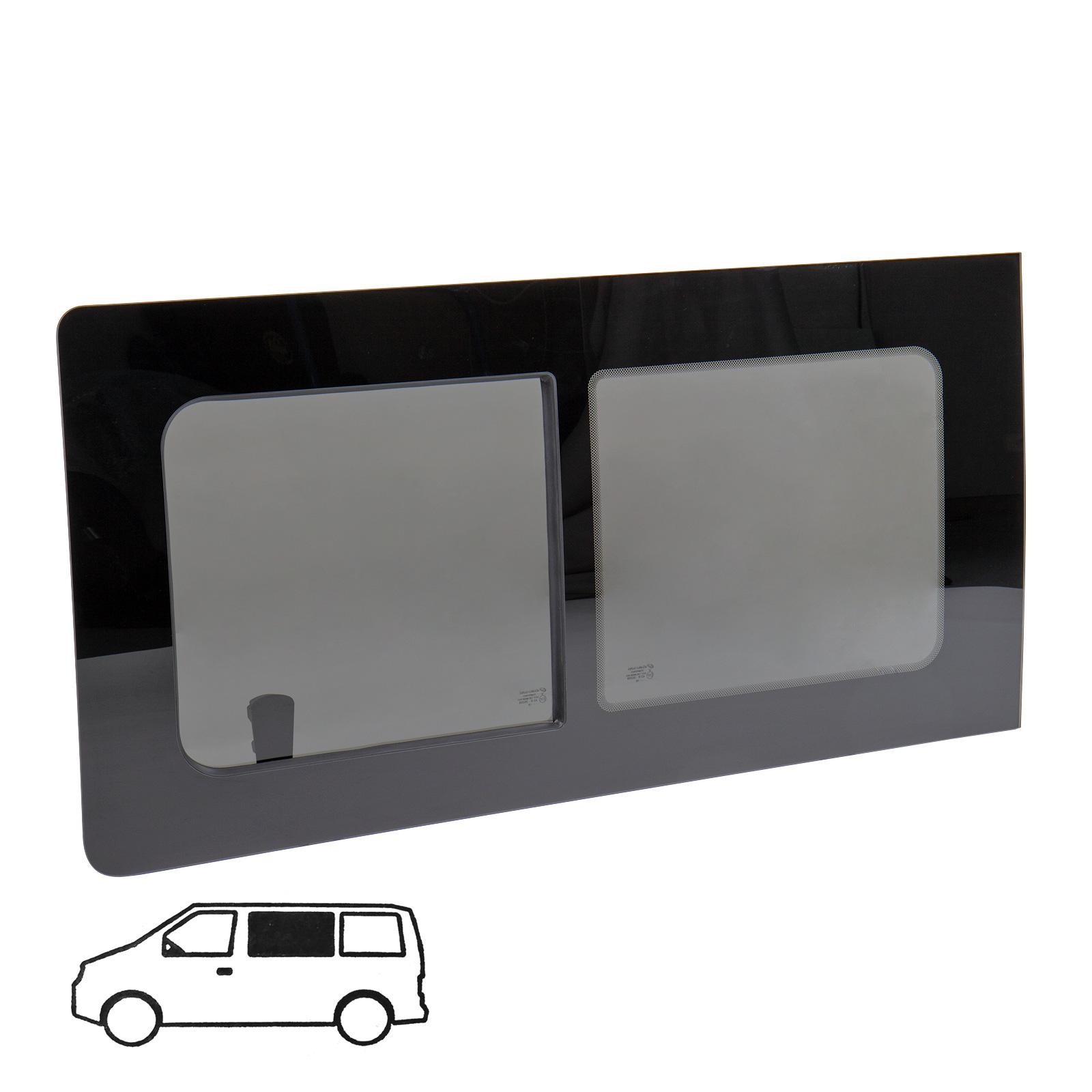 Schiebefenster Glasfenster für VW T5 / T6 links, Echtglas, 113 x 58 cm