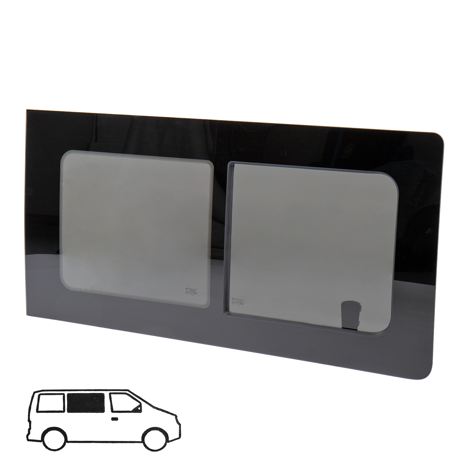 Schiebefenster-Seitenfenster-getoent-rechts-fuer-VW-T5-T6-Echtglas-113x58-cm