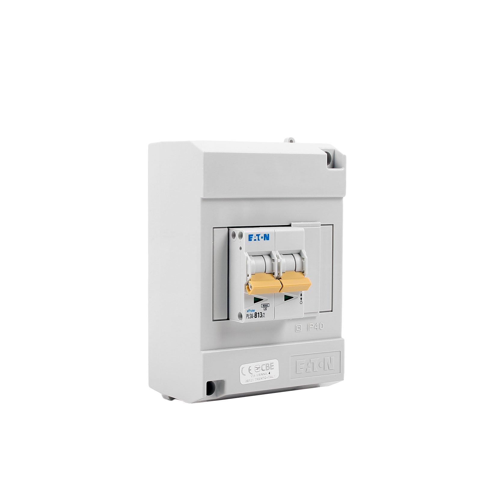 Sicherungsautomat für Caravan 2 Polig 13 A Aufputz Grau IP40