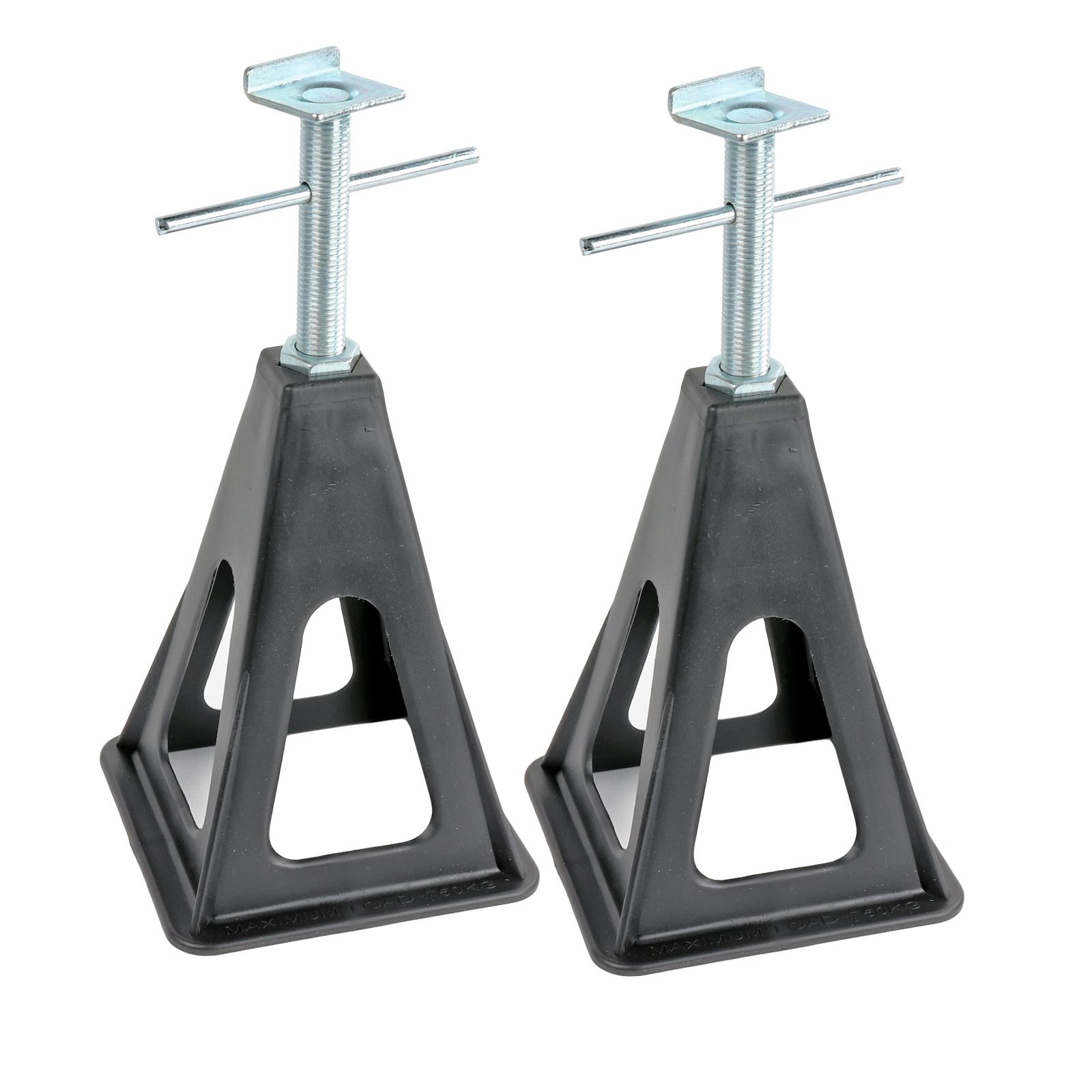 Stützbock 2er Set | Kunststoff | höhenverstellbar 25-42cm | 750Kg Traglast
