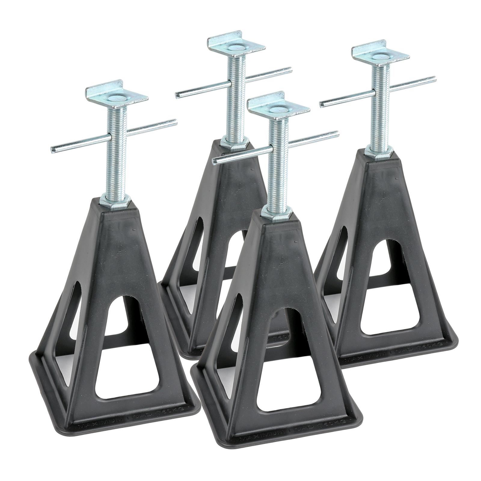 Stützbock 4er Set | Kunststoff | höhenverstellbar 25-42cm | 750Kg Traglast