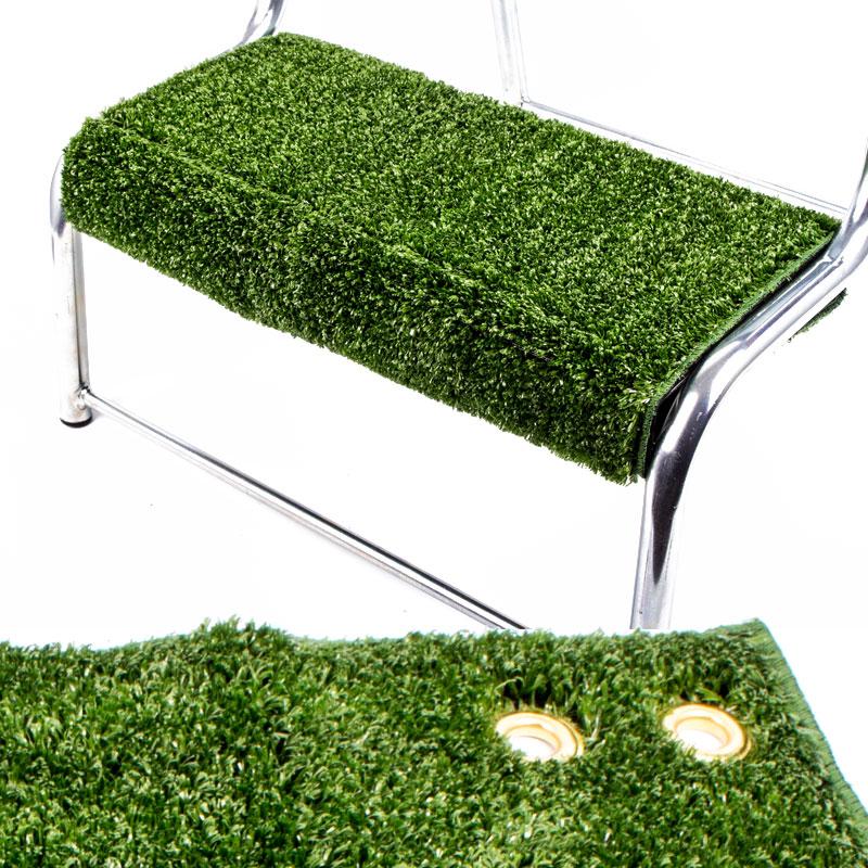 Clean Step Trittstufen Fußmatte, 45x40 cm, grün