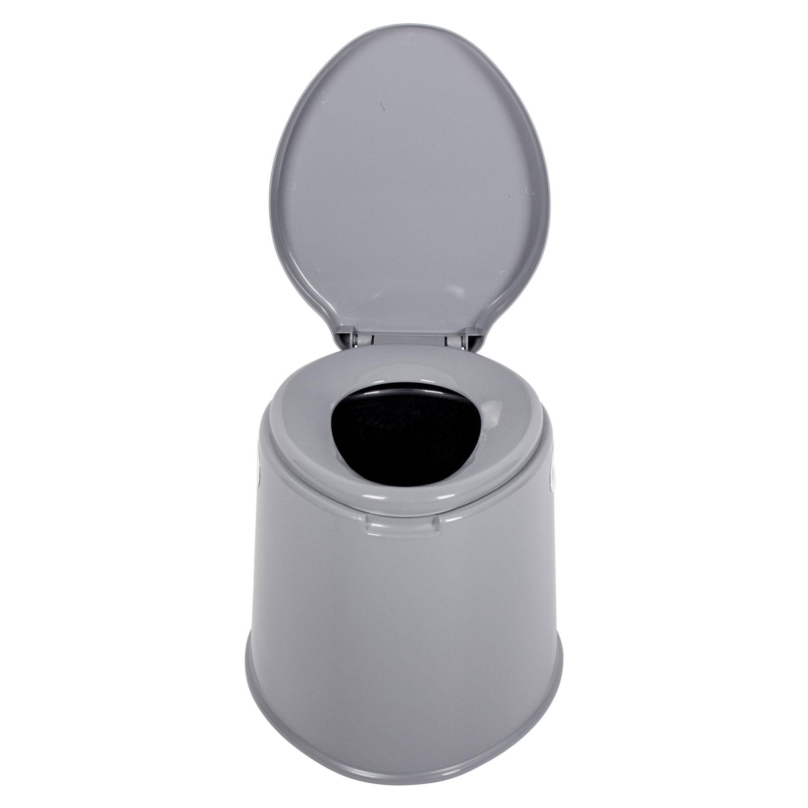 Proplus campingtoilette 7 liter volumen 40 5 x 49 x 33cm grau f r t4 t5 t6 ebay - Camping toilette fur gartenhaus ...