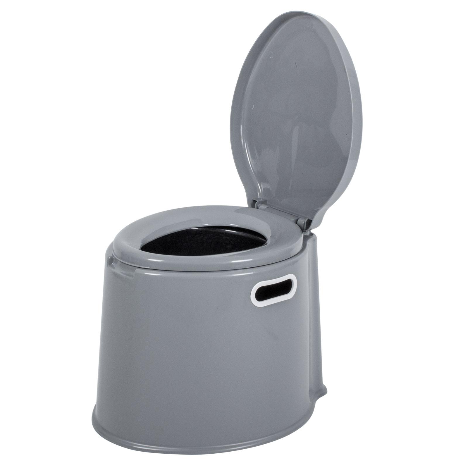 Proplus campingtoilette 7 liter volumen 40 5 x 49 x 33cm grau f r wohnwagen ebay - Camping toilette fur gartenhaus ...