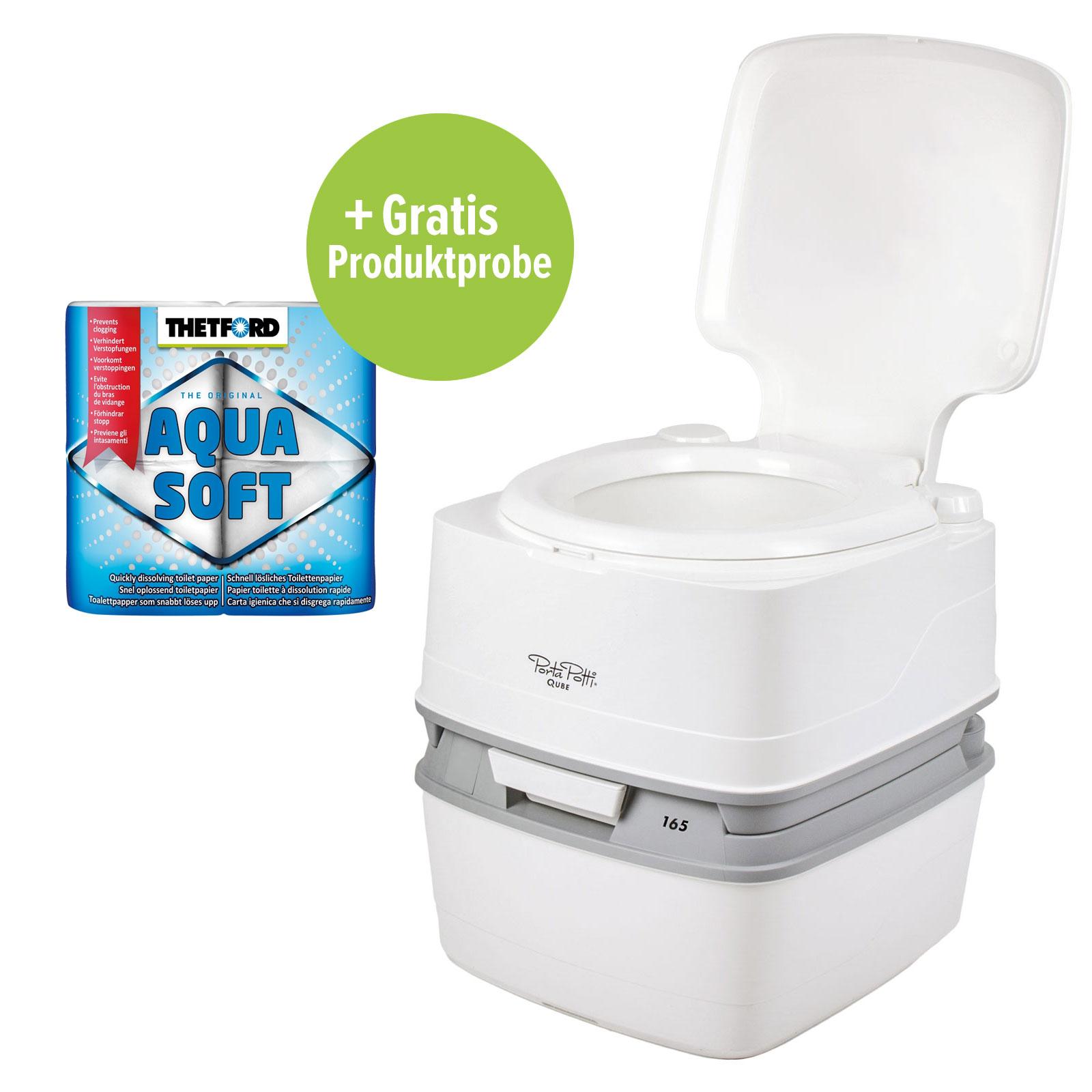Porta potti qube 165 campingtoilette 21ltr toilettenpapier f r wohnmobil ebay - Camping toilette fur gartenhaus ...
