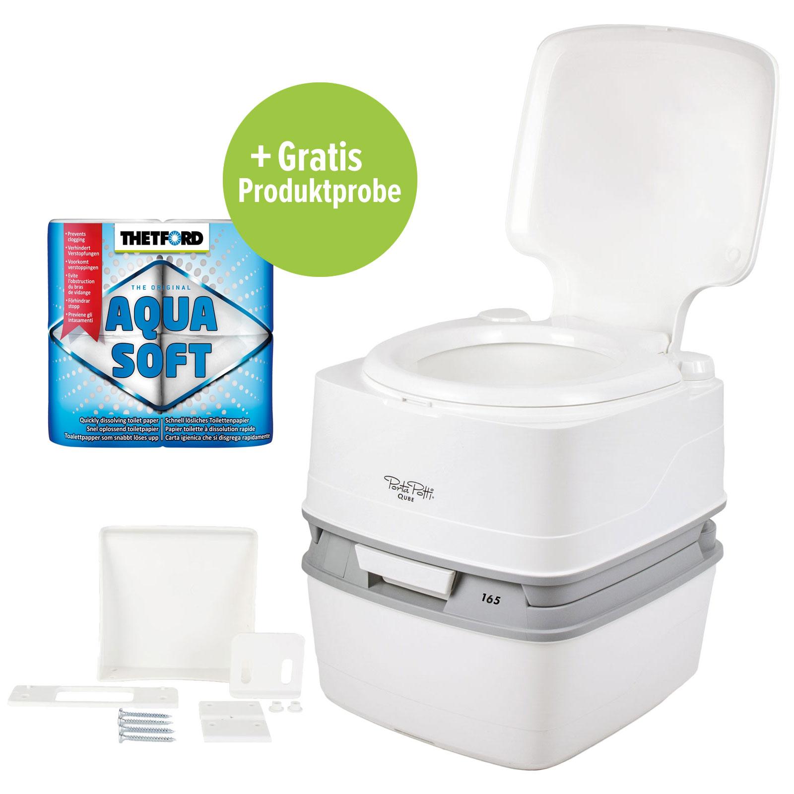 Thetford Porta Potti Qube 165 Campingtoilette Befestigung Toilettenpapier