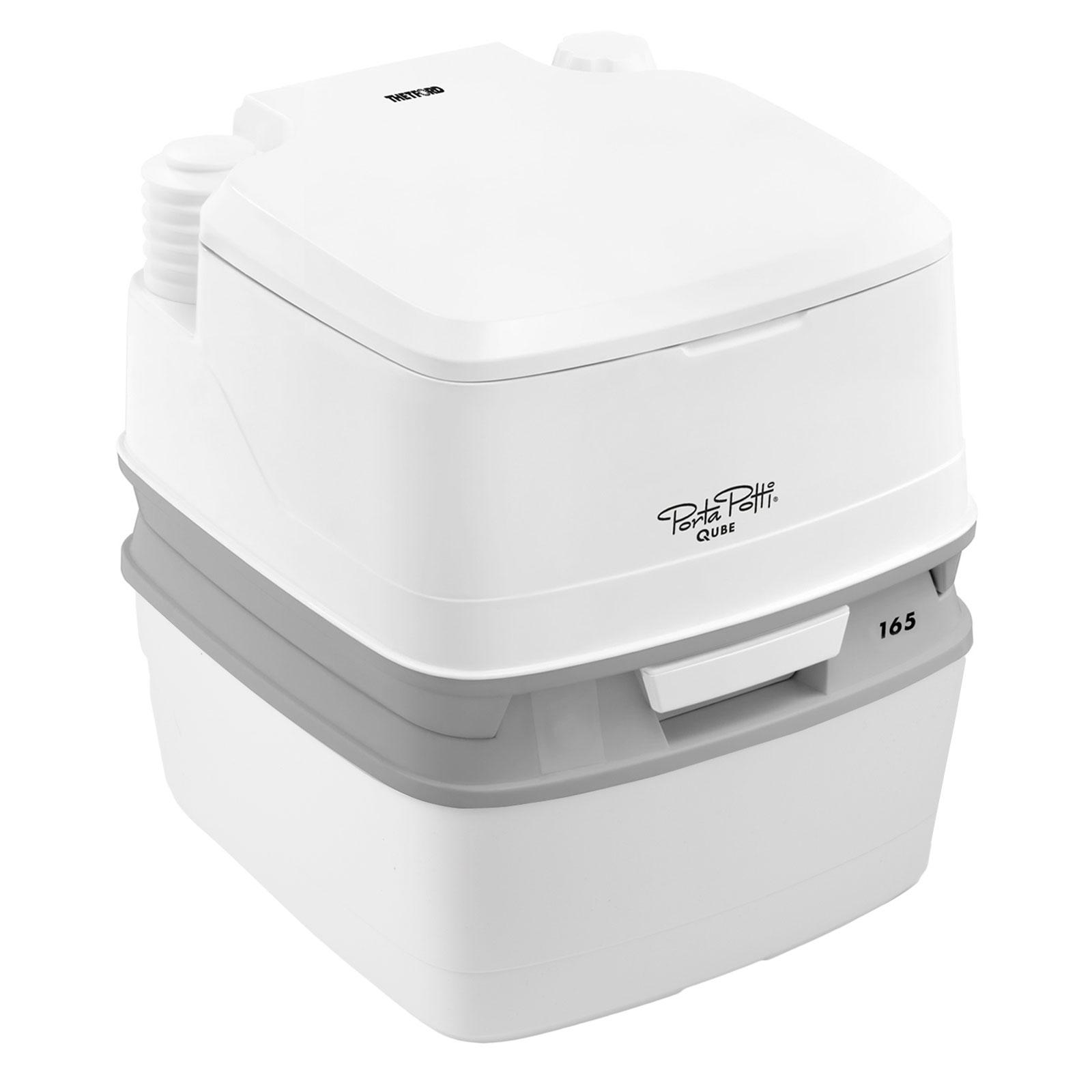Thetford porta potti qube 165 campingtoilette 21 ltr abwassertank f r wohnwagen ebay - Camping toilette fur gartenhaus ...