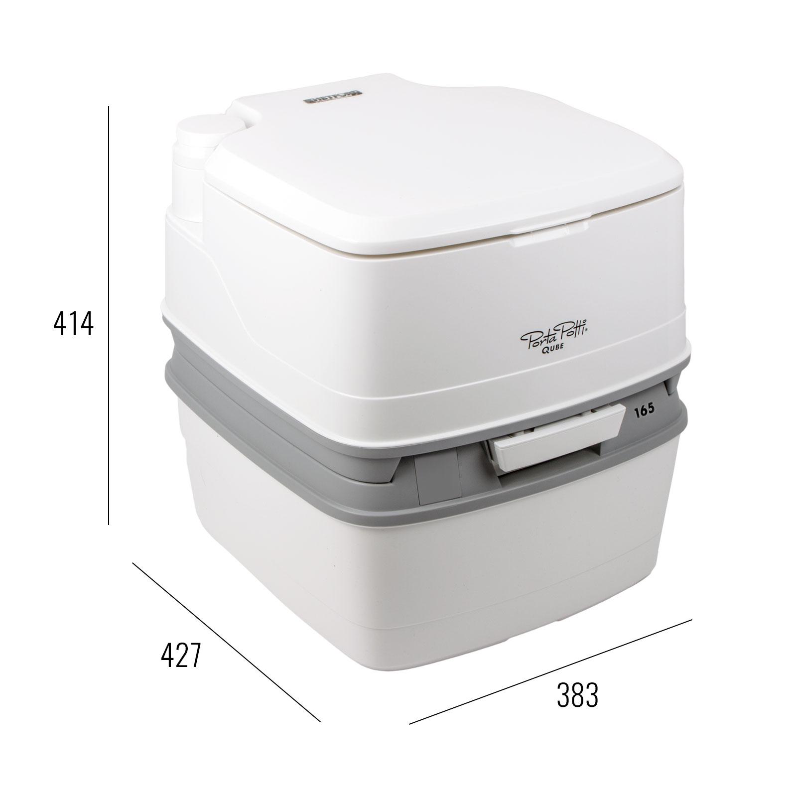 porta potti qube 165 campingtoilette 21ltr toilettenpapier chemie f r wohnwagen. Black Bedroom Furniture Sets. Home Design Ideas