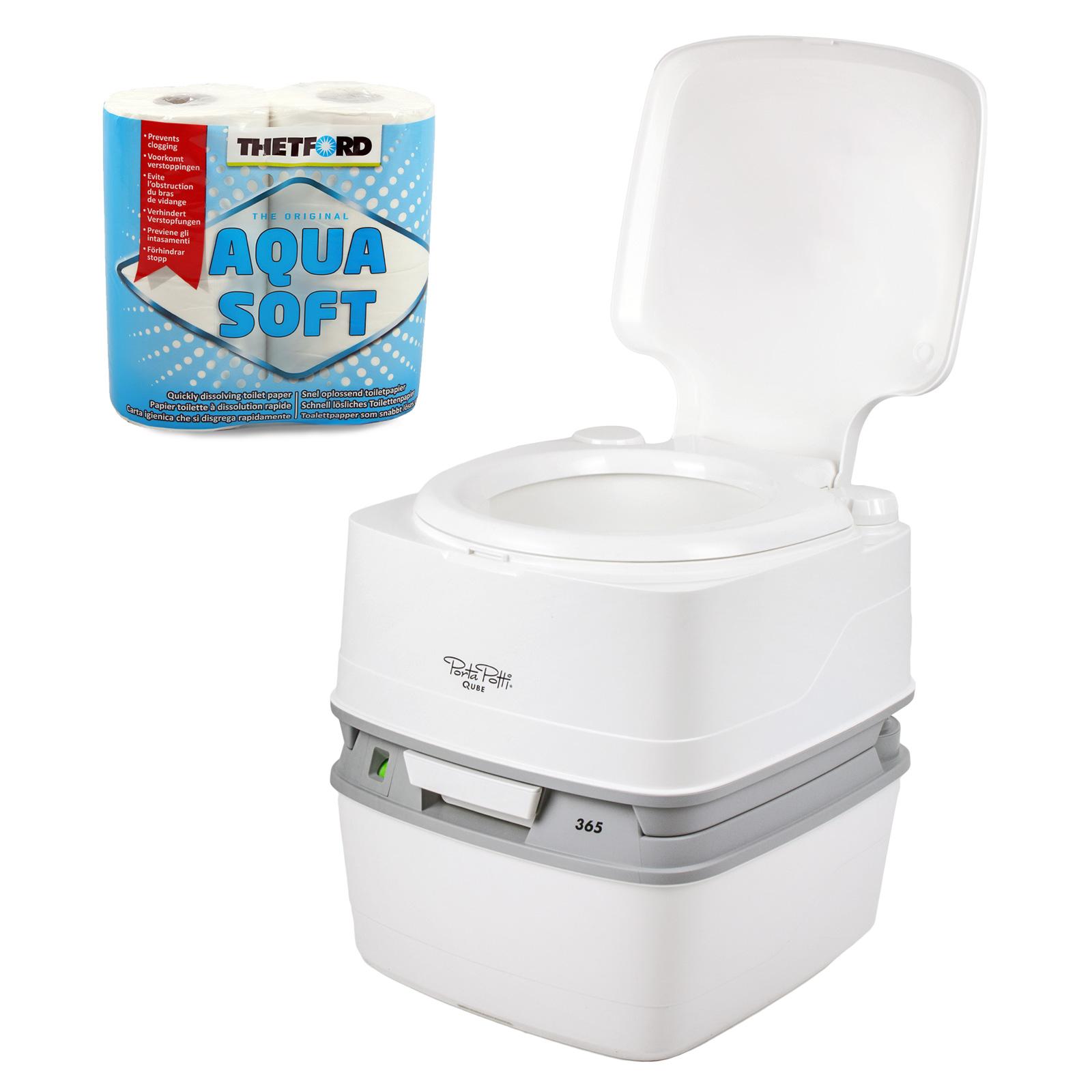 Thetford Porta Potti Qube 365 Campingtoilette 21 Ltr + Toilettenpapier + Chemie
