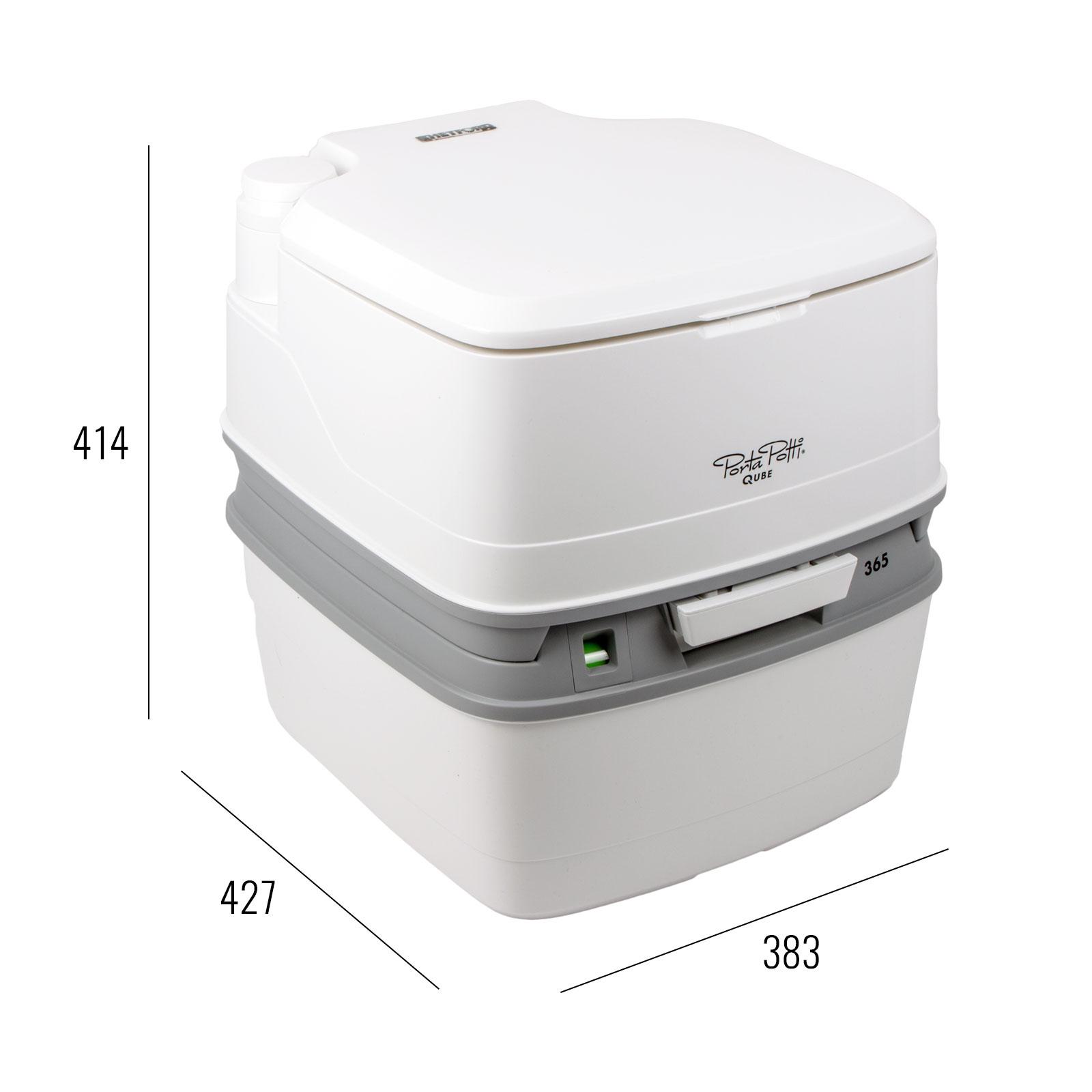 porta potti qube 365 campingtoilette 21ltr toilettenpapier chemie f r wohnwagen ebay. Black Bedroom Furniture Sets. Home Design Ideas