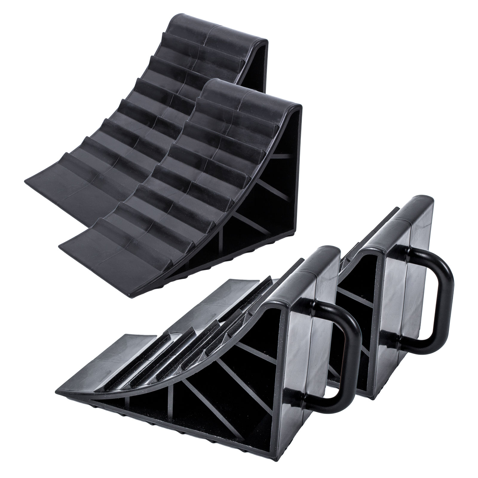 Unterlegkeil Kunststoff schwarz 4er Set mit Griff