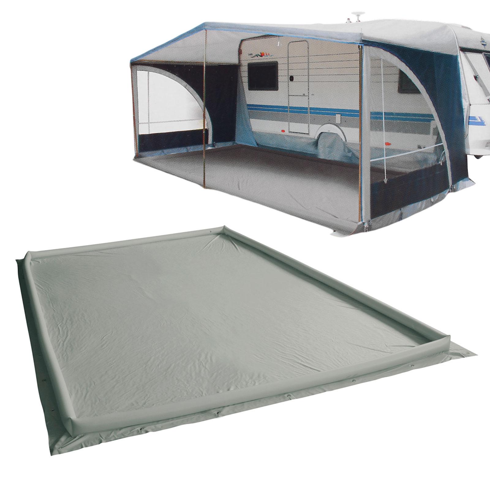 wamovo® Air dam 250 x 600 grau Ränder aufblasbar PVC (400 g/qm)