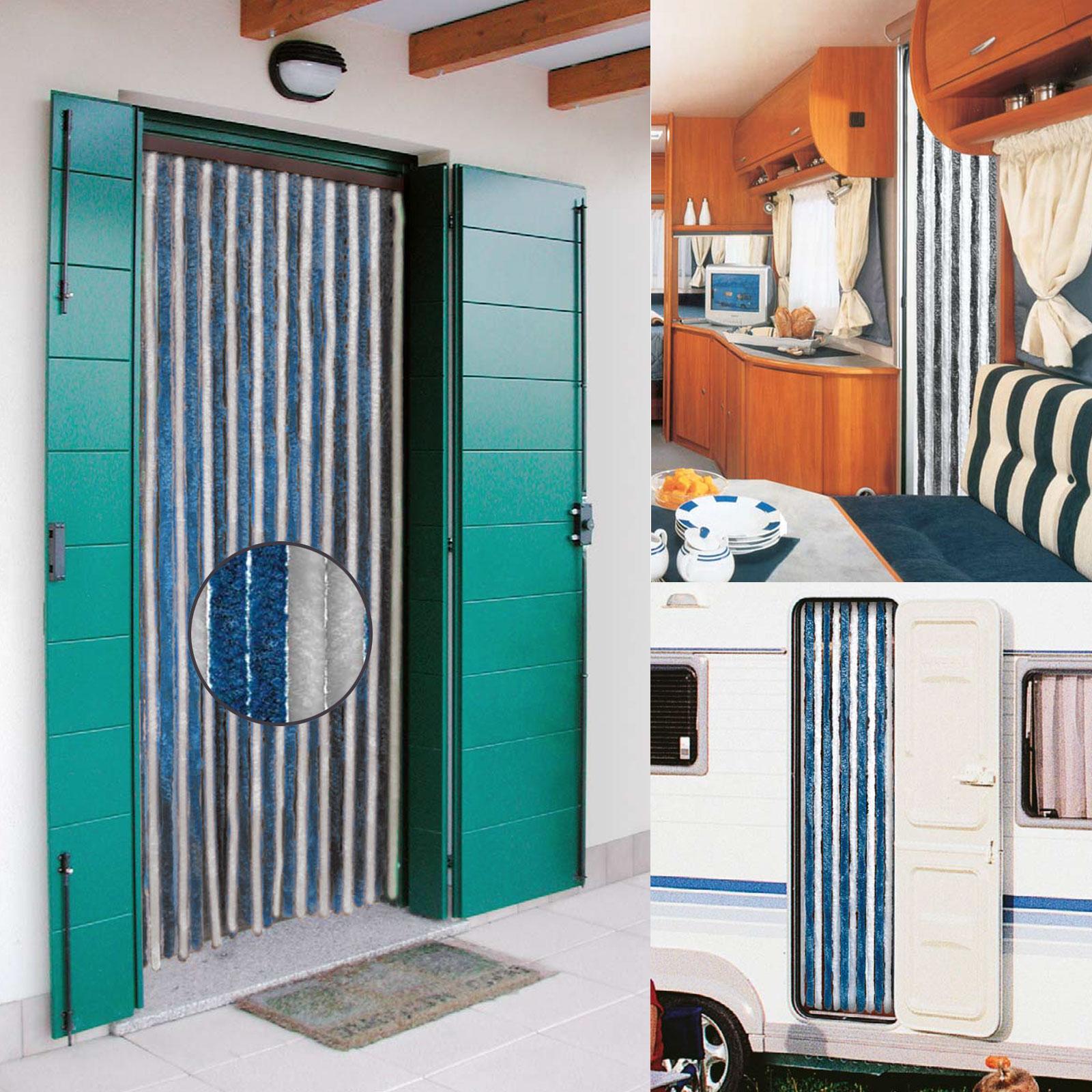 flauschvorhang 56x185cm grau blau propylen t rvorhang. Black Bedroom Furniture Sets. Home Design Ideas