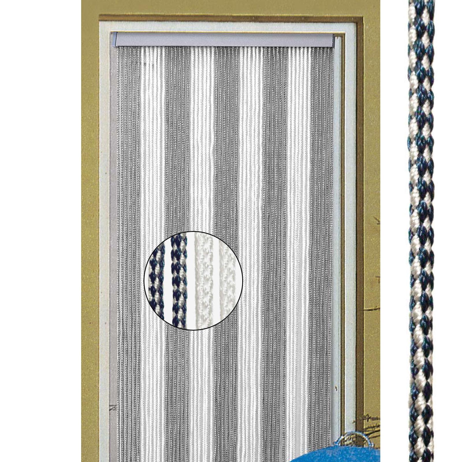 Vorhang Korda, 100% Polyester, 60x190 cm, weiß/blau