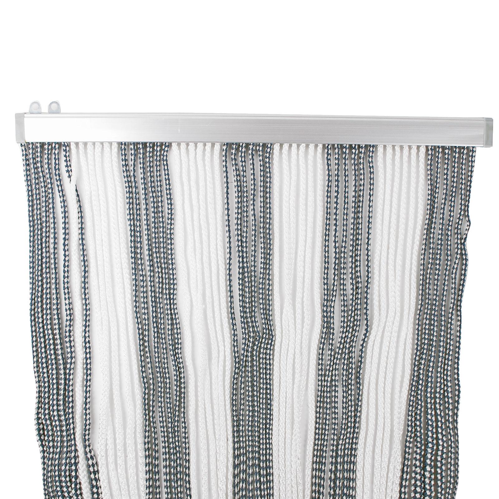 t rvorhang 60x190cm blau wei polyester fadenvorhang. Black Bedroom Furniture Sets. Home Design Ideas