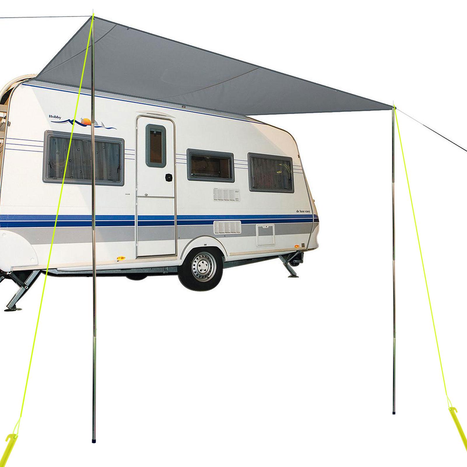 Wohnmobil Wohnwagen Sonnensegel, 3,50 x 2,4 m, inkl. Aufstellstangen