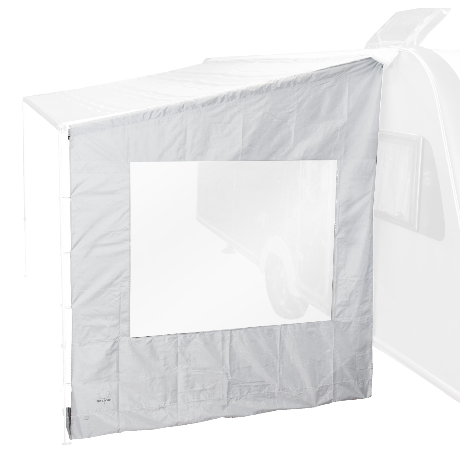 Universal-Seitenwand mit Fenster für Markise, grau, 225x213x290 cm