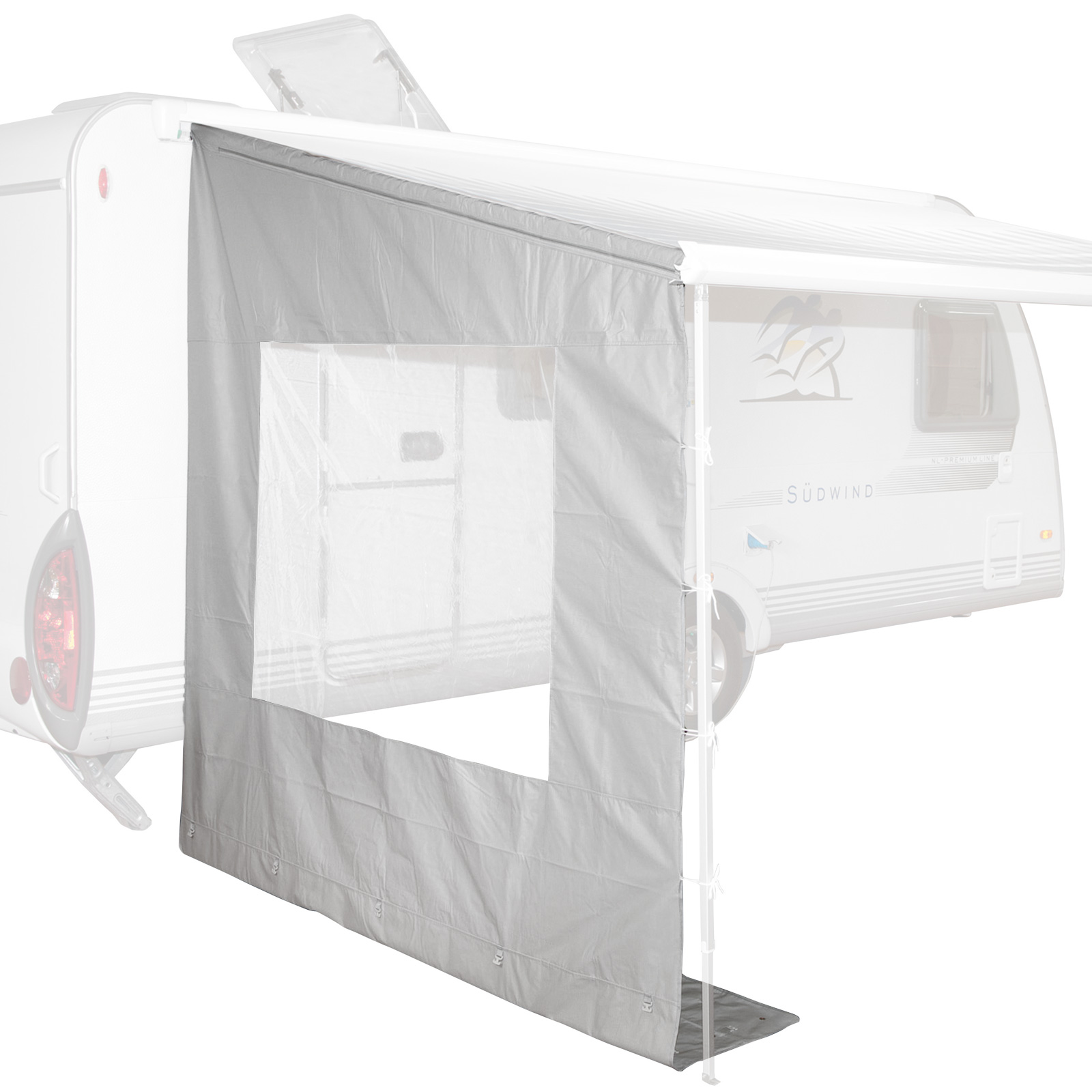 Markise Seitenwand Seitenteil Mit Fenster F R Wohnwagen