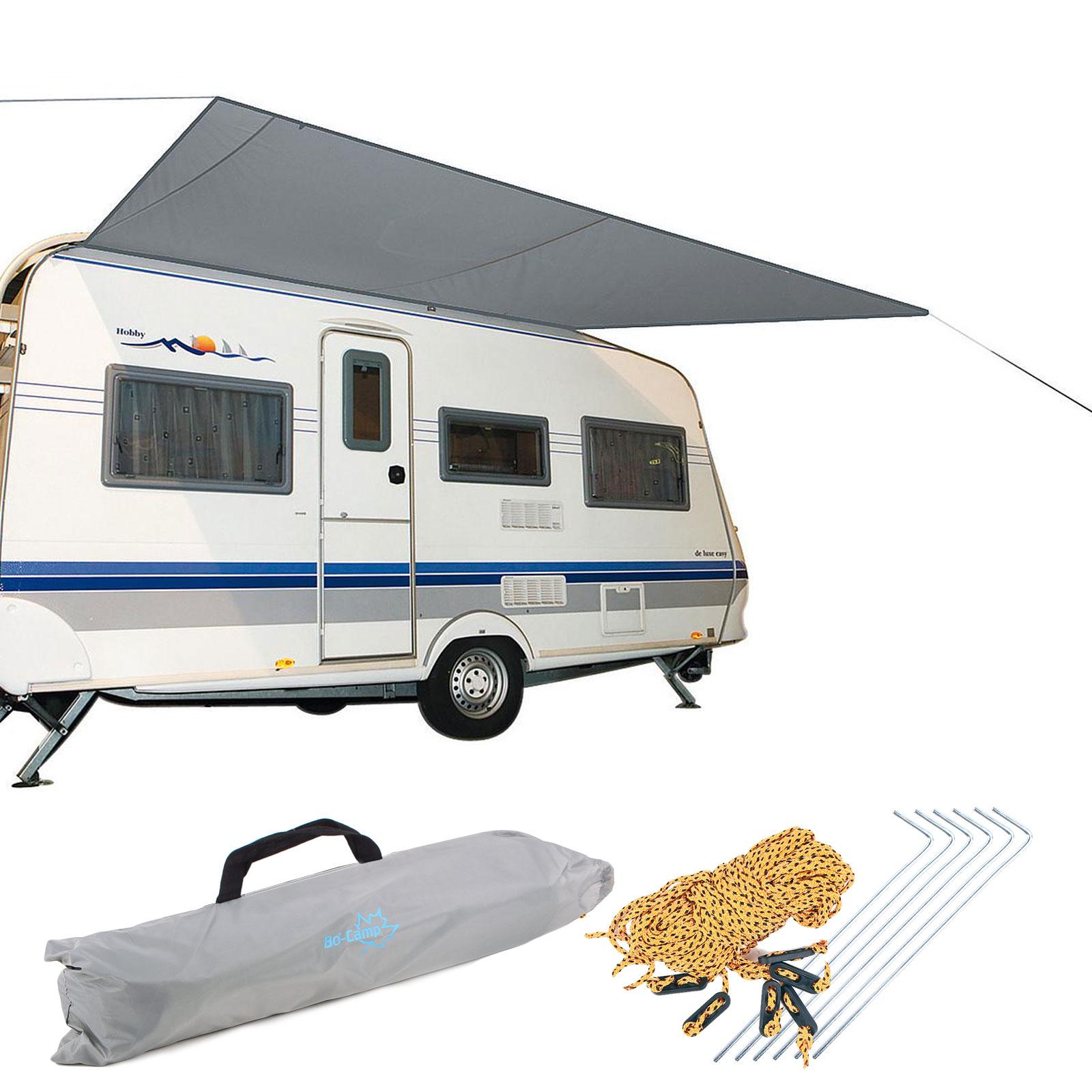 Wohnmobil Wohnwagen Sonnensegel, grau, 3,50 x 2,4m, Wassersäule 2000mm