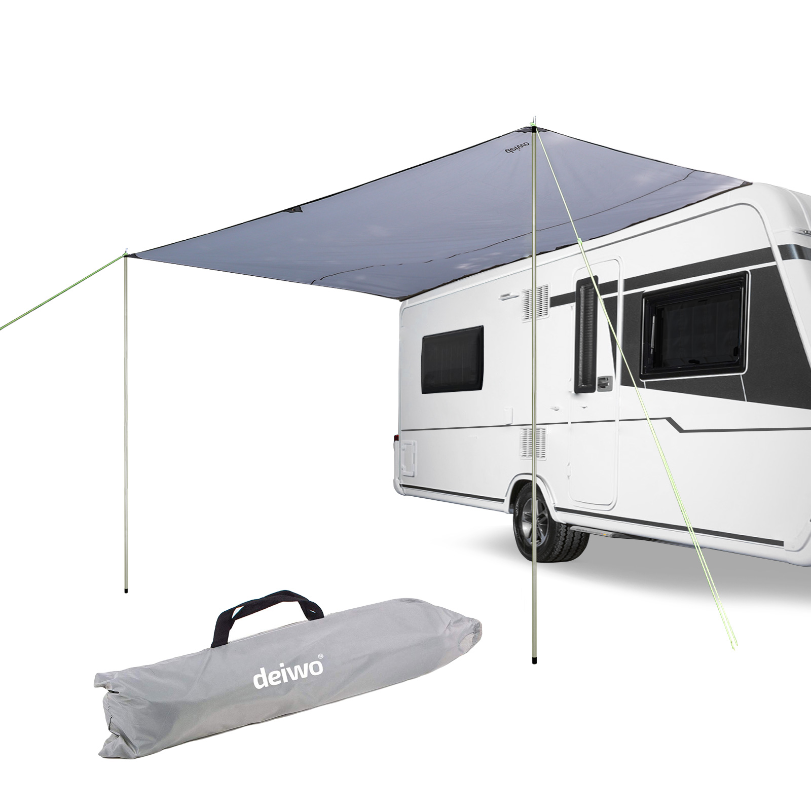 Awning for Camper van Caravan bus, 3,50x2,4m, water column 2000mm