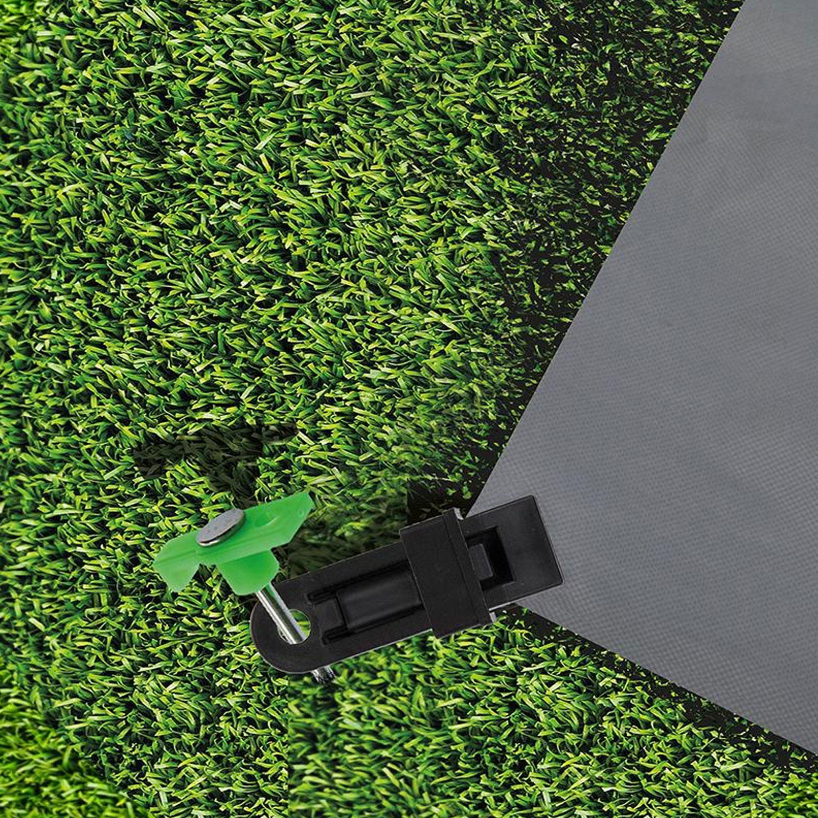 Arisol Vorzeltteppich Set 250×400 grau + Teppichclips