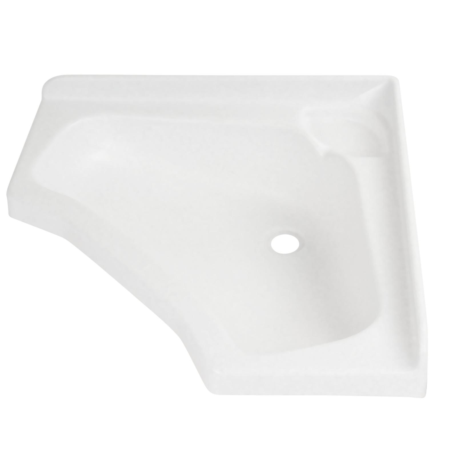Eckwaschbecken klein 44 x 44 x 16 cm, Kunststoff, weiß