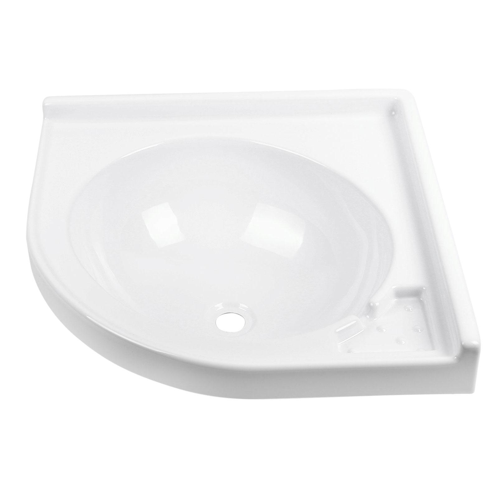 Eckwaschbecken 42 x 42 x 15 cm | ABS-Kunststoff | 650 g | weiß