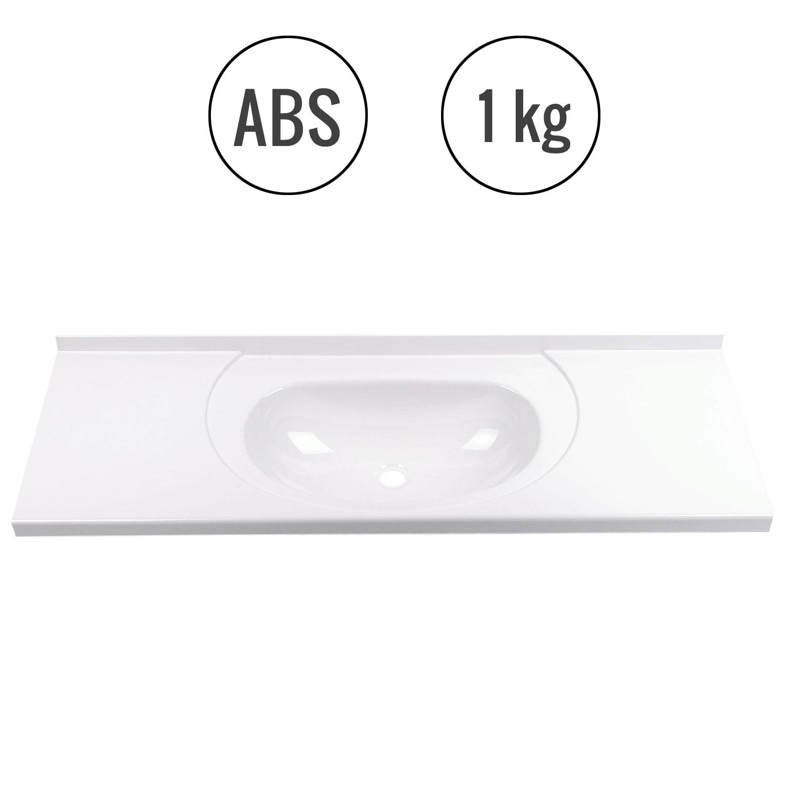 Einbauwaschbecken 900x310x310 mm, Kunststoff, weiß