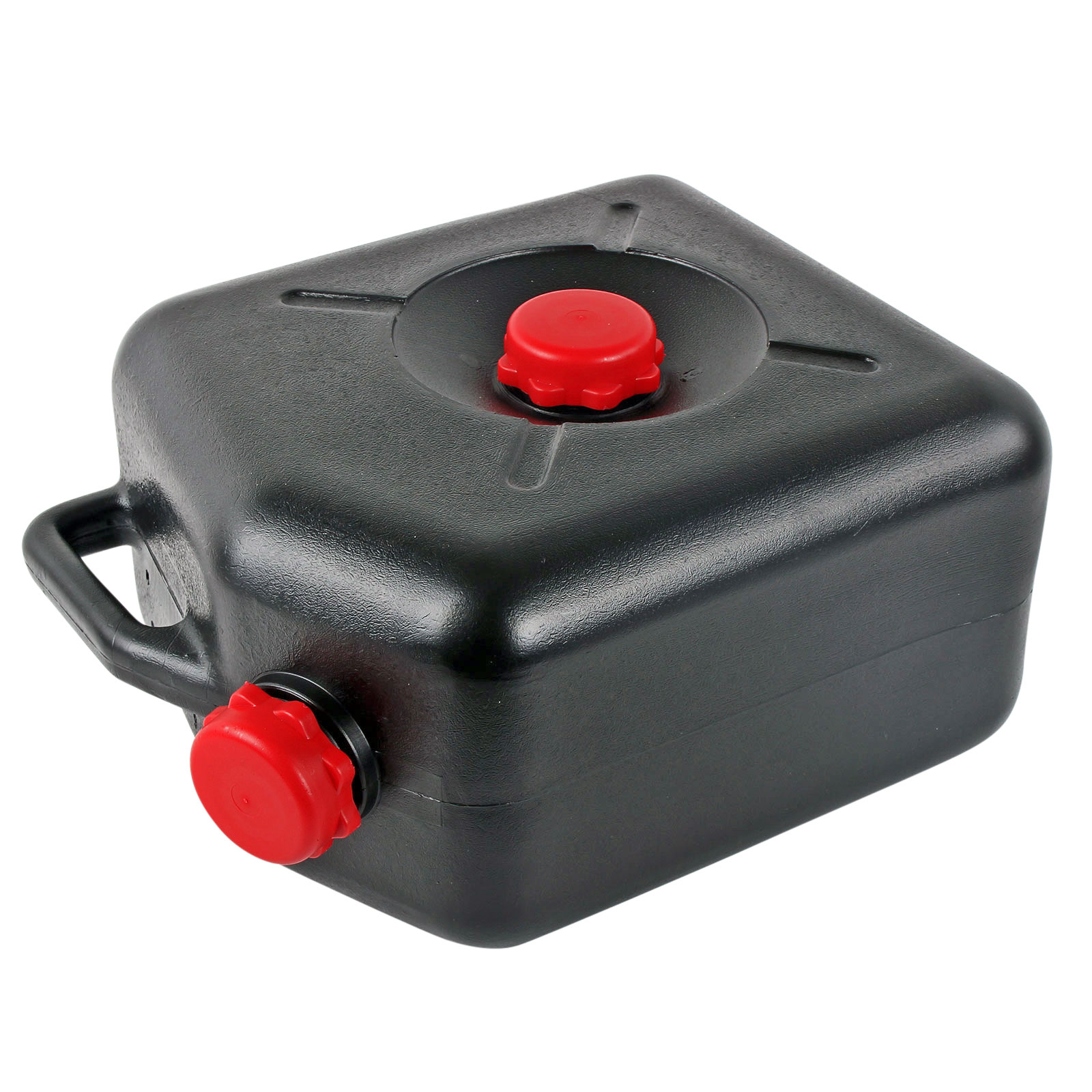 Abwassertank Wohnwagen schwarz 23 Liter Auffangöffnung, Schraubdeckel, Henkel