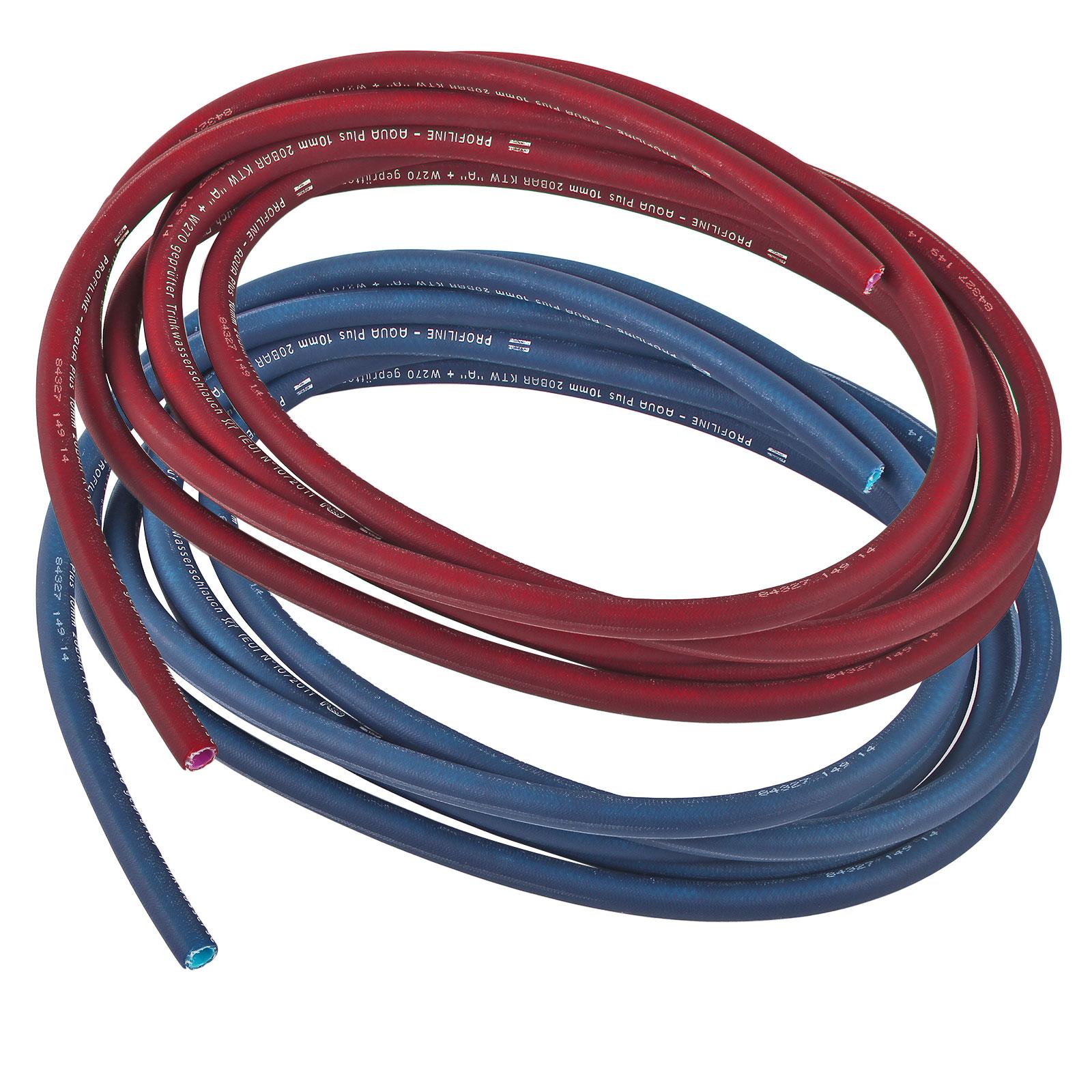 10 Meter Trinkwasserschlauch Set Rot & Blau 10 x 2,5 mm Kalt & Warmwasser