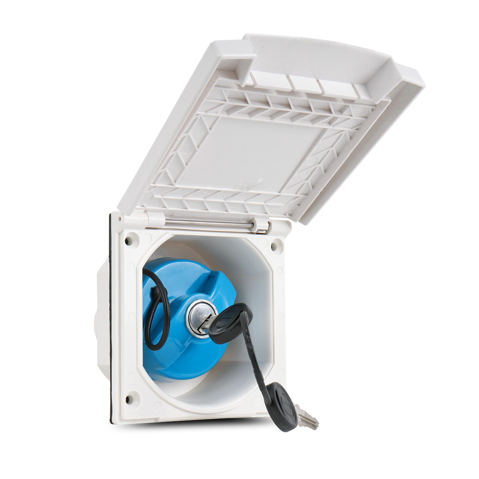Water connection box | lockable | white | including seal and screws | 40mm