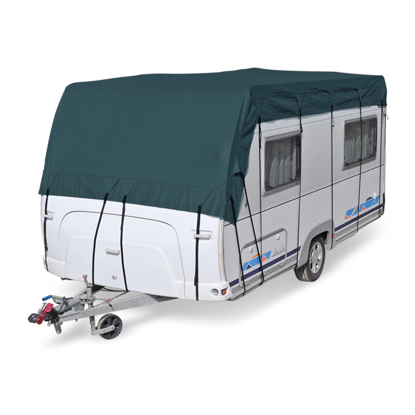 Wohnwagen & Wohnmobil Schutzdach | wintertauglich | viele Größen | Midnight Olive