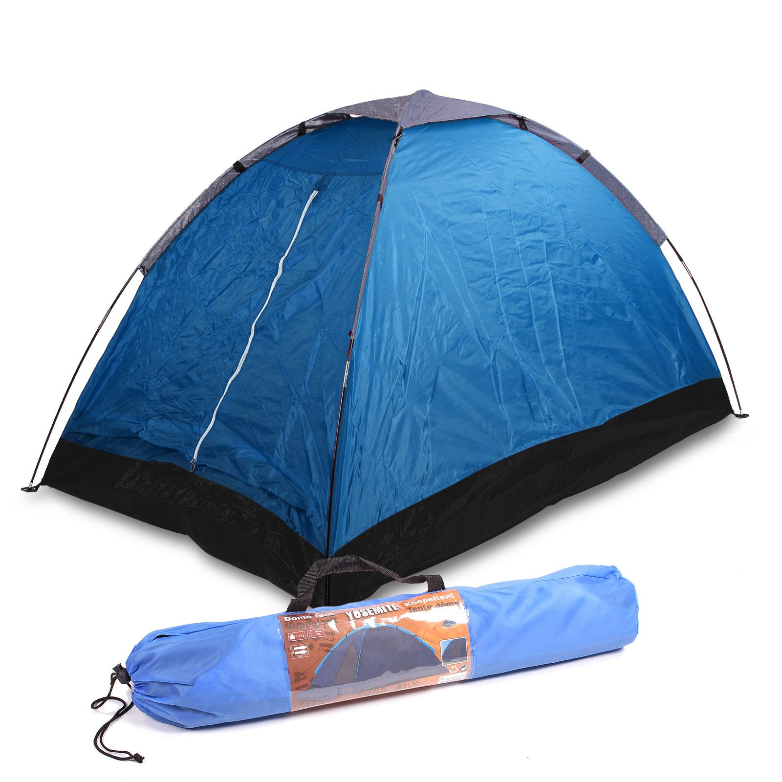 Kuppelzelt für 2 Personen, (LxBxH) 2,00 x 1,20 x 1,00 m, blau