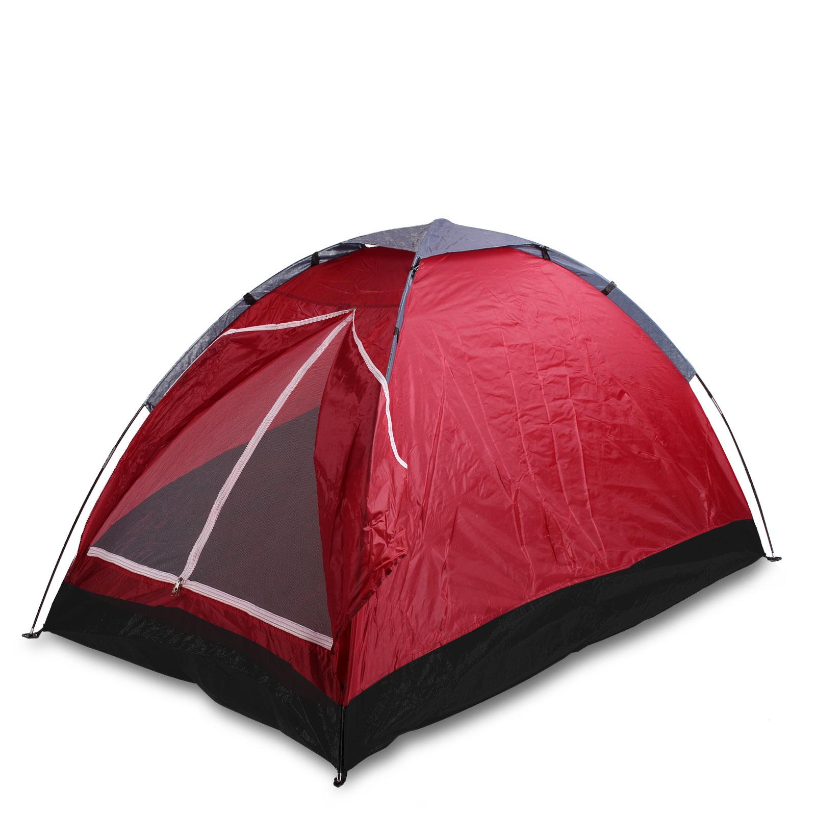 kuppelzelt f r 2 personen rot inkl 2x schlafsack isomatte. Black Bedroom Furniture Sets. Home Design Ideas