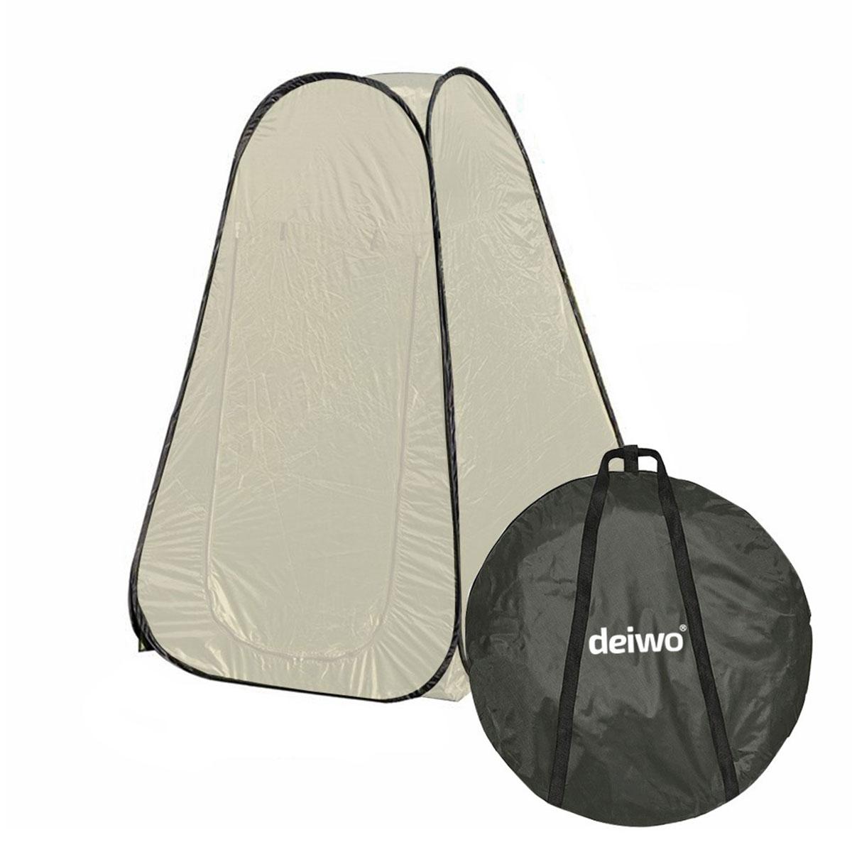 deiwo® Duschzelt Pop Up 120x120x190 cm, Sand, Tragetasche, Heringe