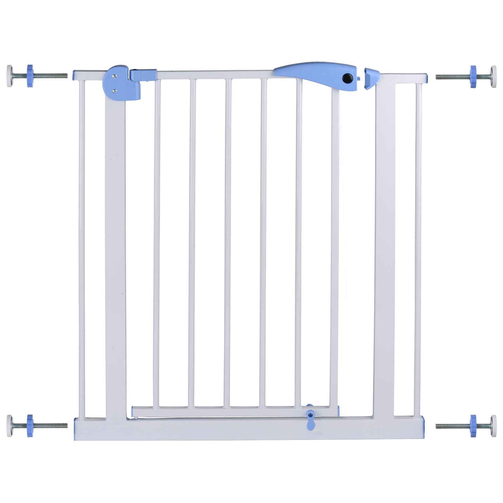 Kinderschutzgitter Türschutzgitter, 75-85x79 cm, weiß, Stahl