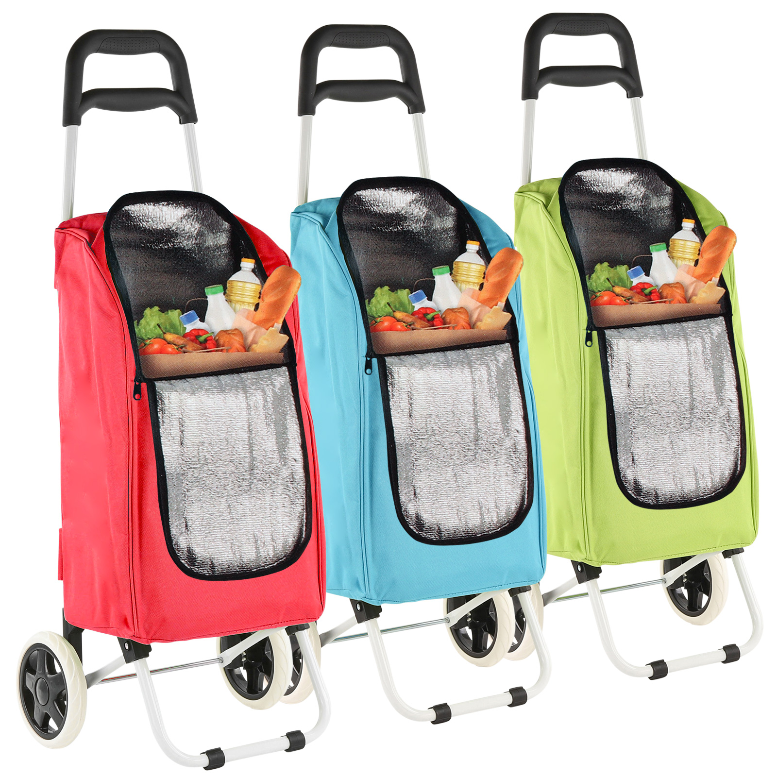 Trolley Shopping Trolley cooler bag 90x34,5x29cm 25Ltr foldable