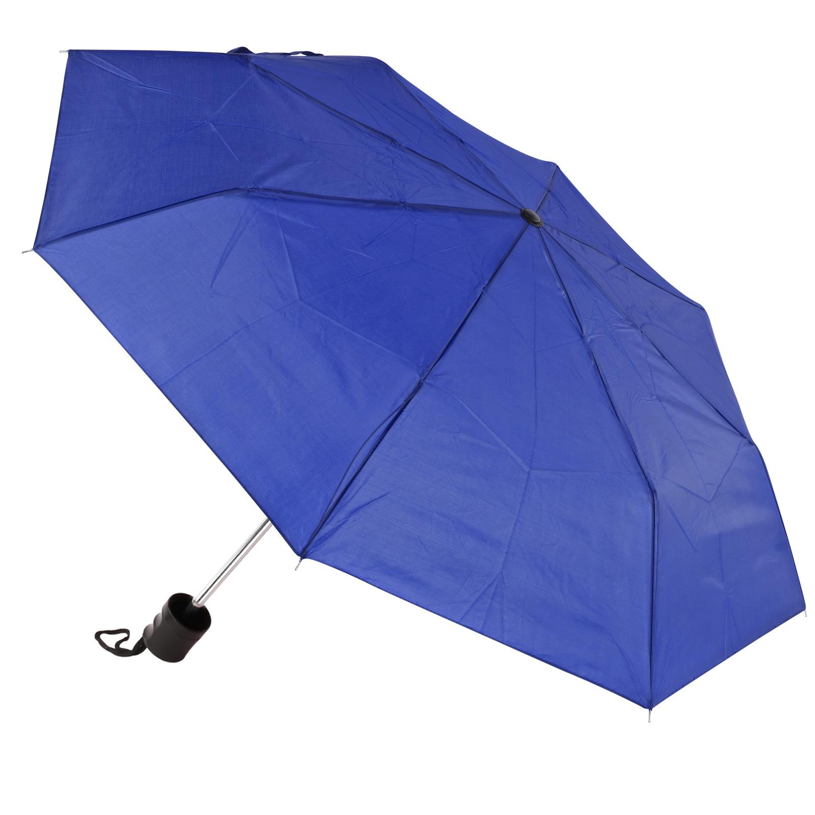 Amrini Regenschirm Blau 100cm Spannweite Mini Packmaß 25x5cm