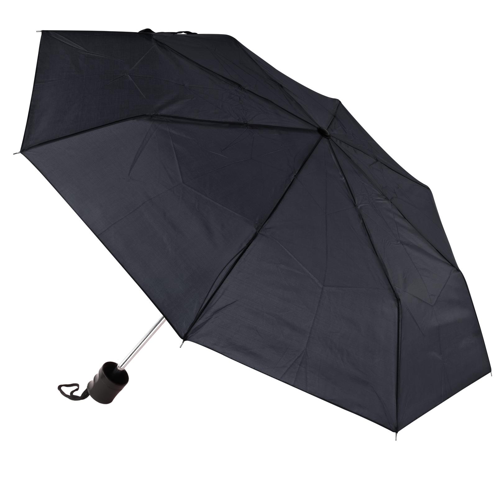 Amrini Regenschirm Mini schwarz 100cm Spannweite Mini Packmaß 25x5cm