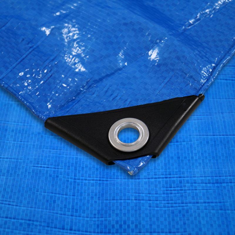 Gewebeplane 3x4 m / 12 qm, UV beständig, Polyethylen, blau