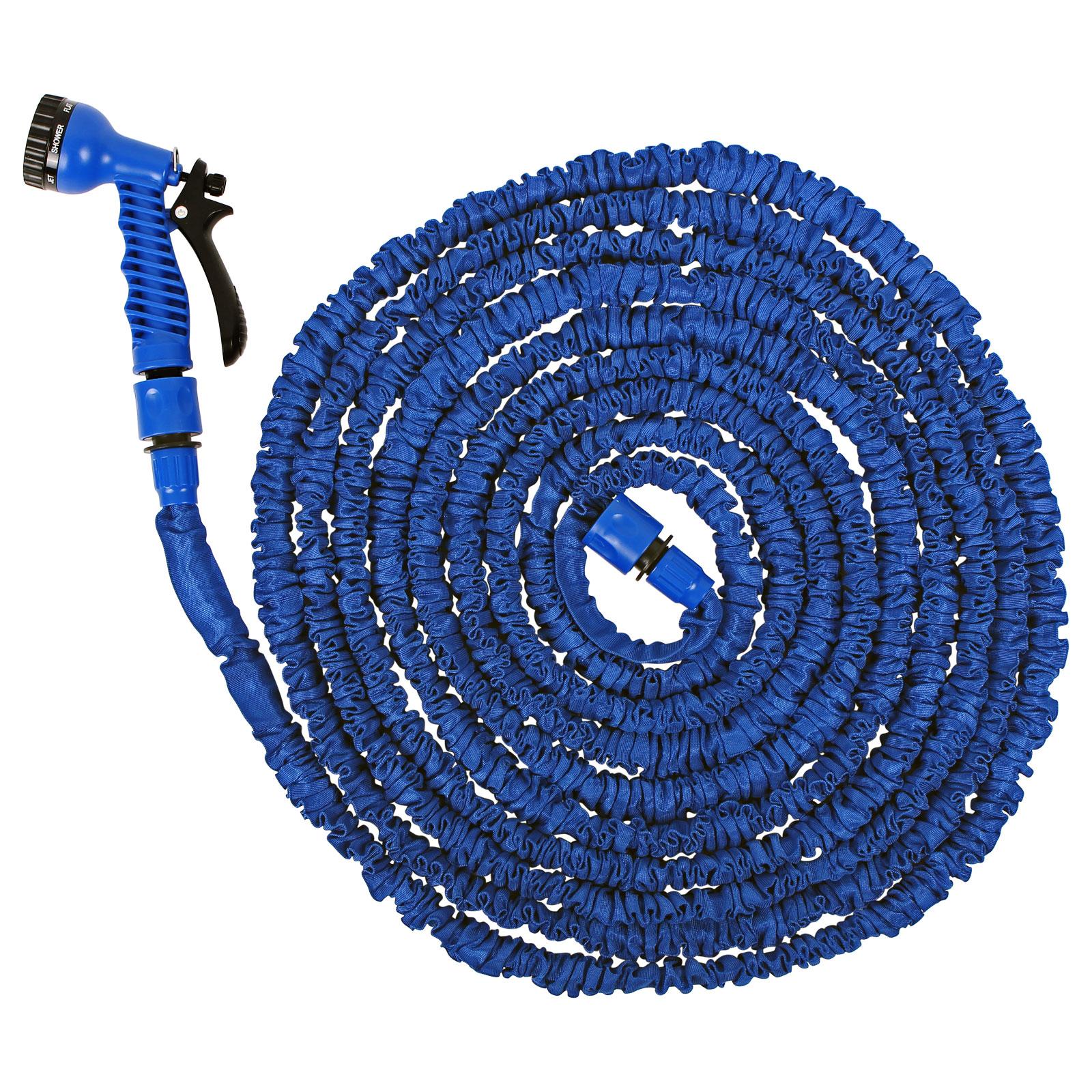 Camp4 flexibler Wasserschlauch 22,5 Meter blau inkl Sprühpistole und Anschluss