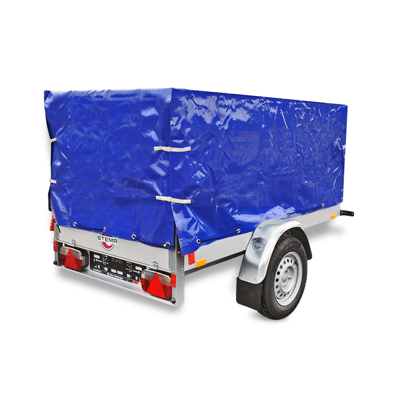 Anhänger-Hochplane Blau mit Gummigurt 2090x1140x880mm